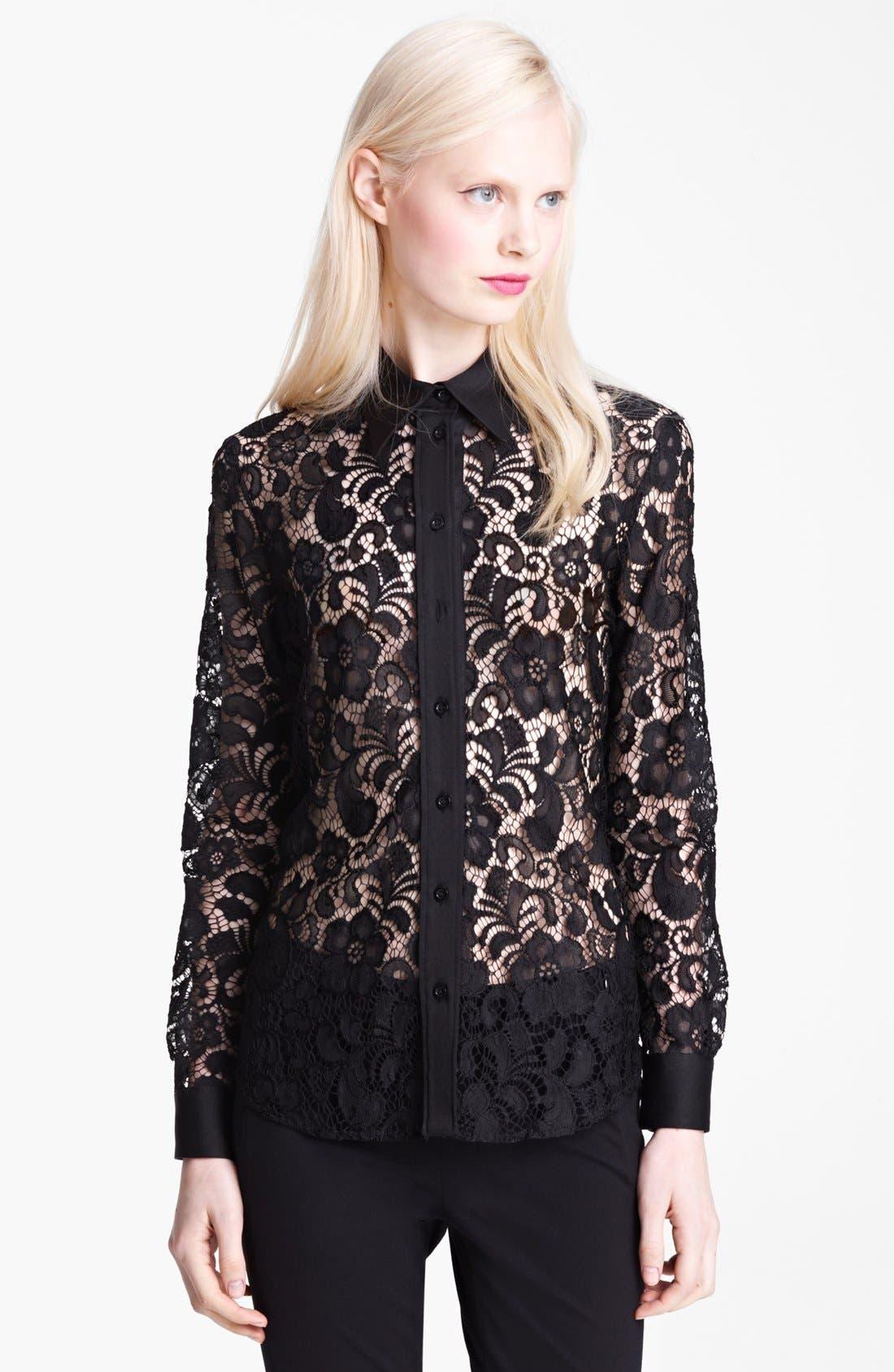 Main Image - Moschino Cheap & Chic Lace Blouse