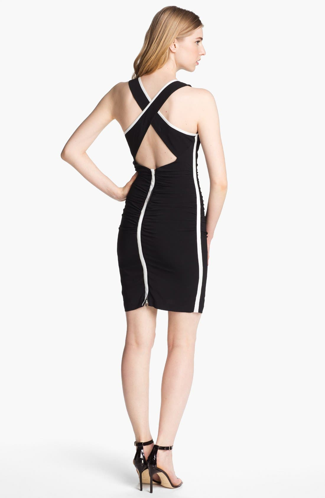 Alternate Image 2  - Tracy Reese Crisscross Back Ruched Dress