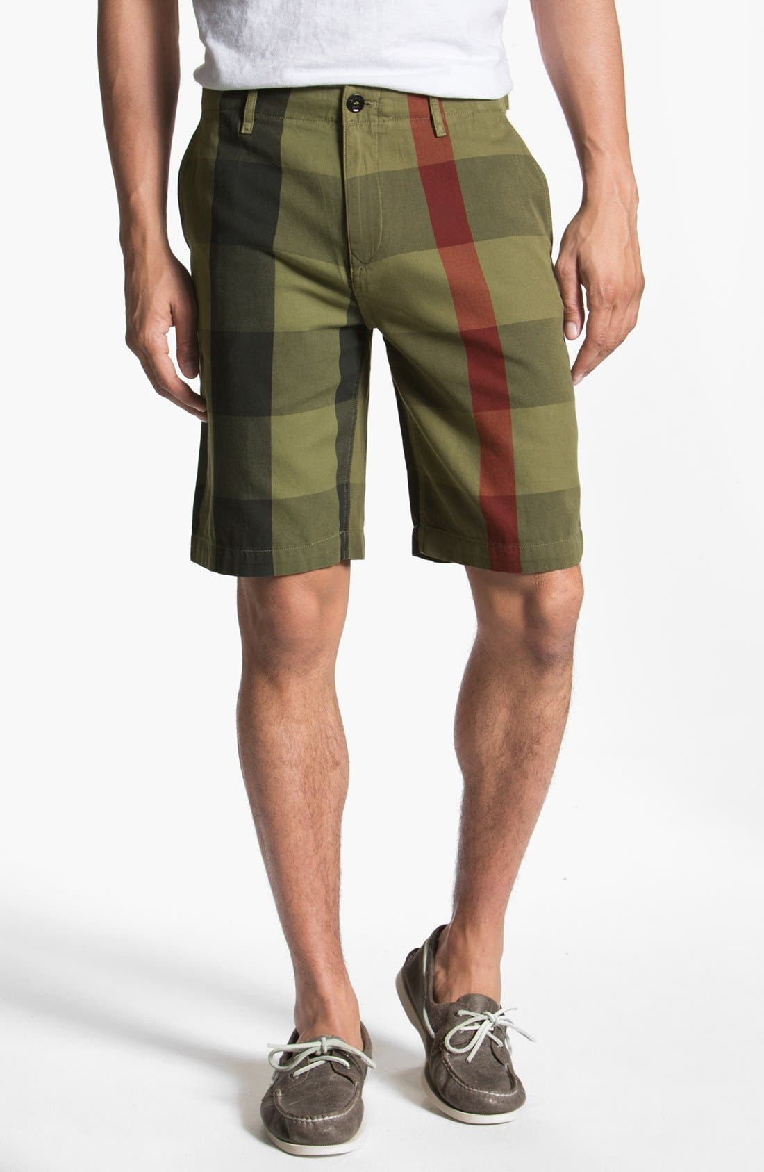 Alternate Image 1 Selected - Burberry Brit Check Print Shorts