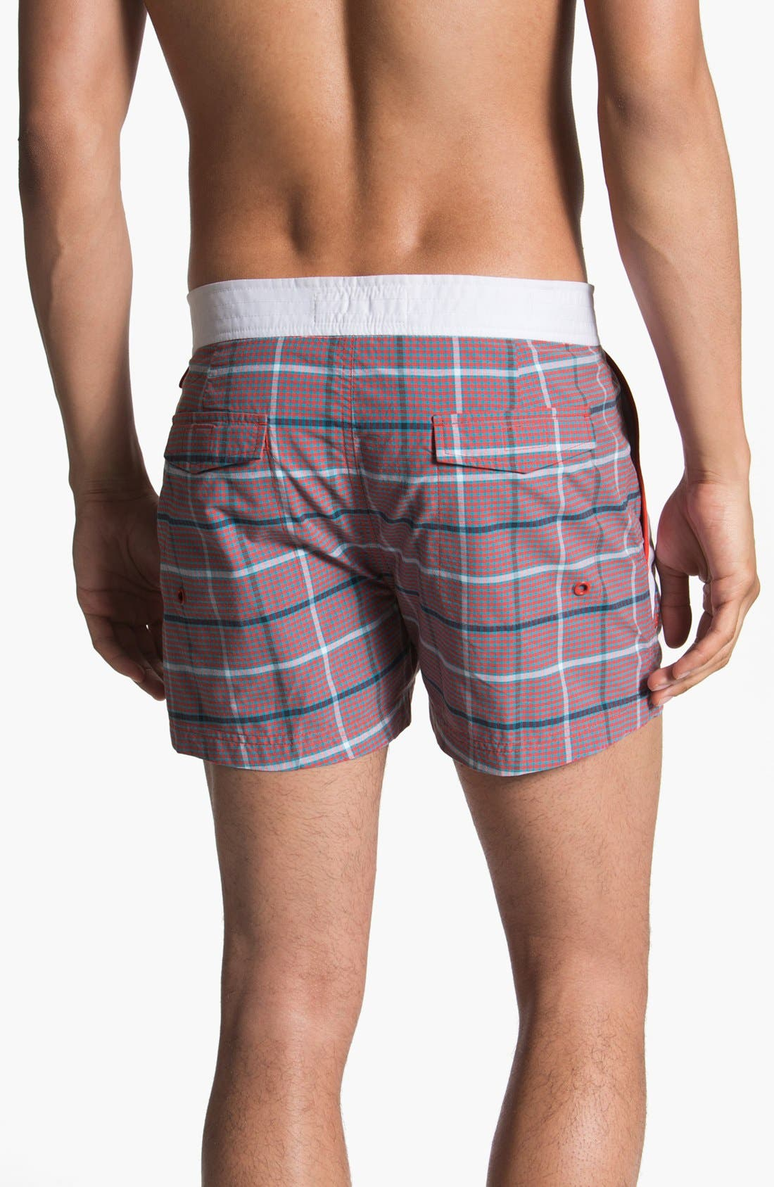 Alternate Image 2  - Original Penguin Check Swim Shorts