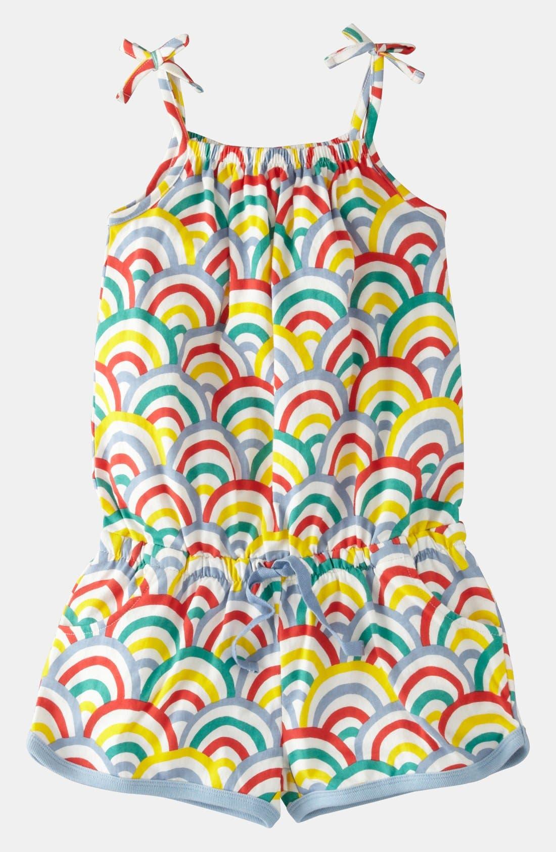 Alternate Image 1 Selected - Mini Boden Jersey Playsuit (Toddler Girls)