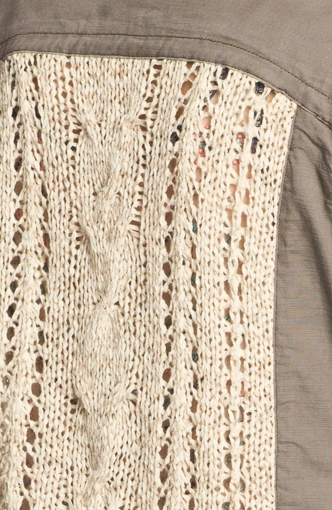 Alternate Image 3  - Gibson Crochet Back Surplus Jacket