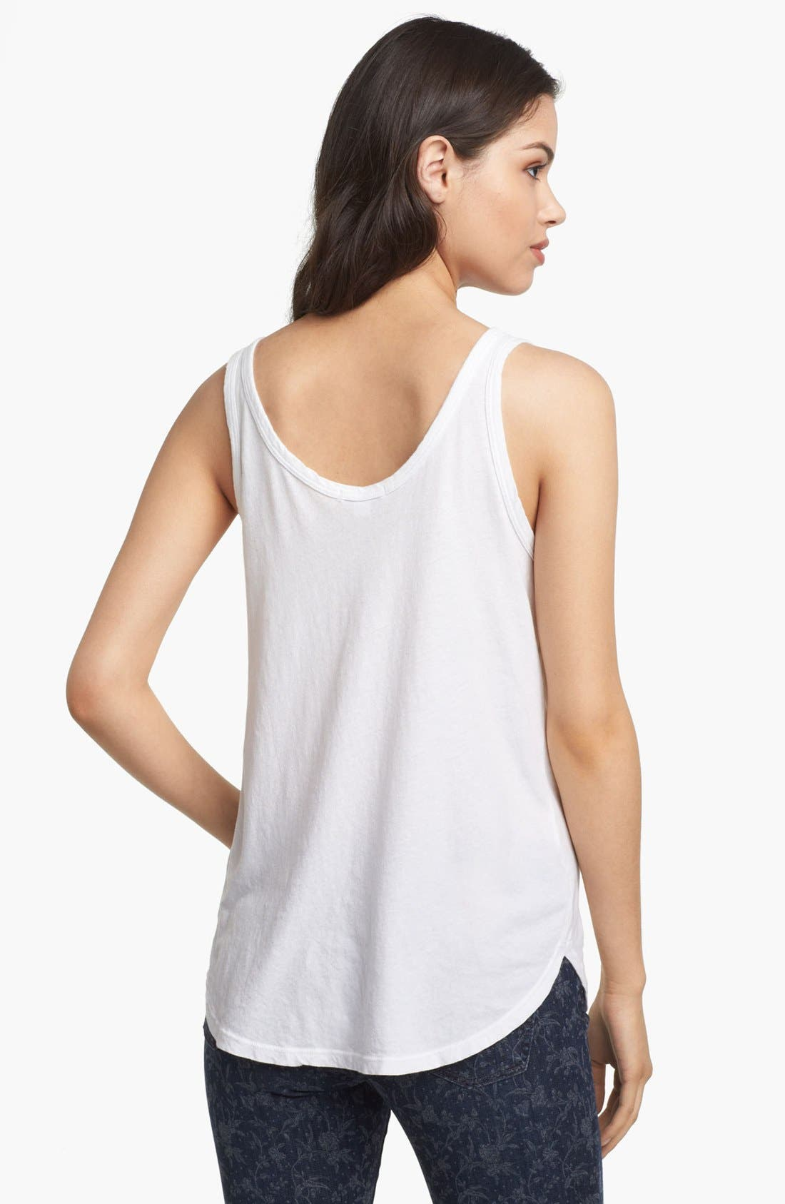 Alternate Image 2  - James Perse Skinny Strap Baseball Tank