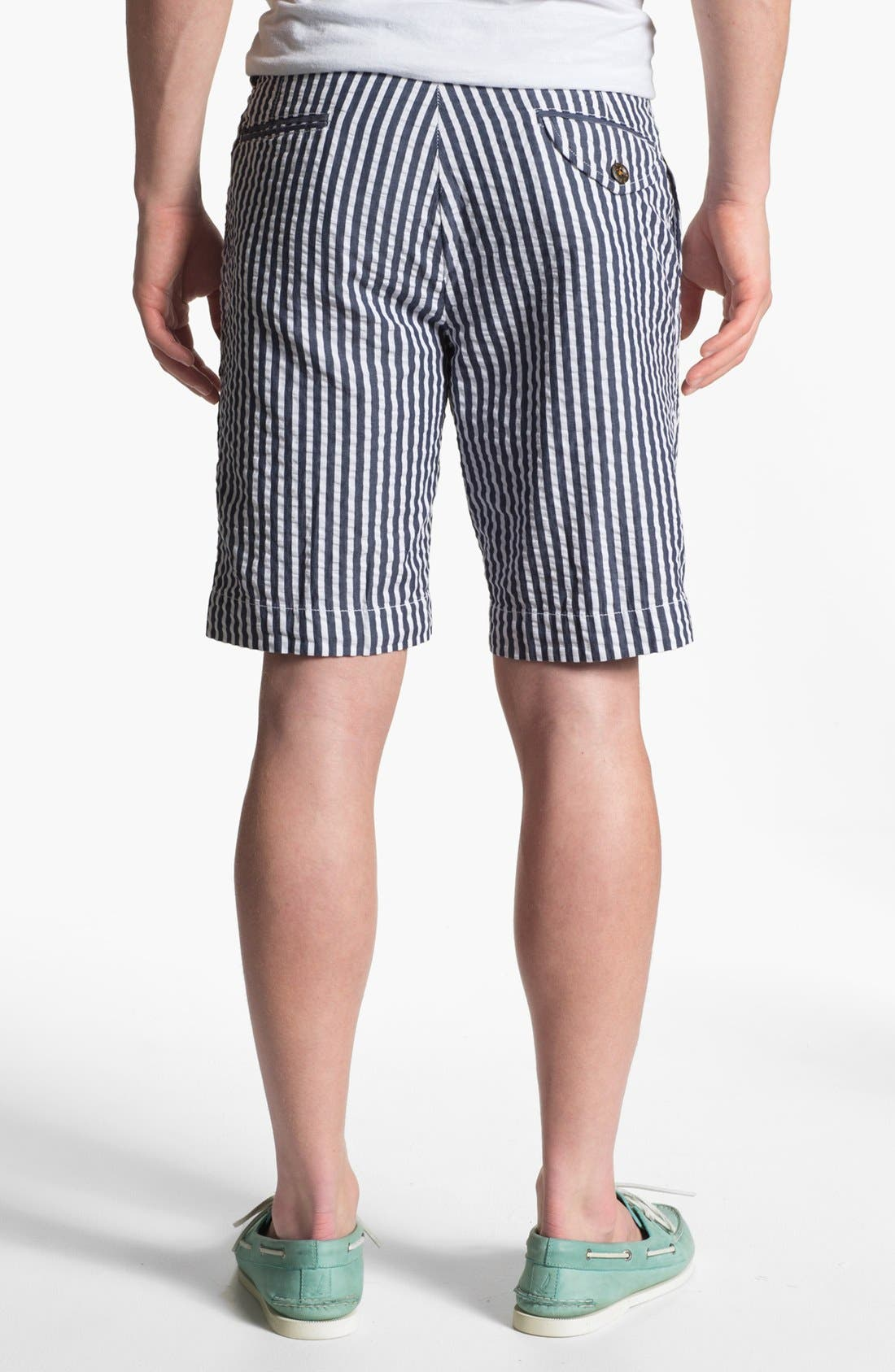 Alternate Image 2  - Vintage 1946 Relaxed Fit Seersucker Bermuda Shorts