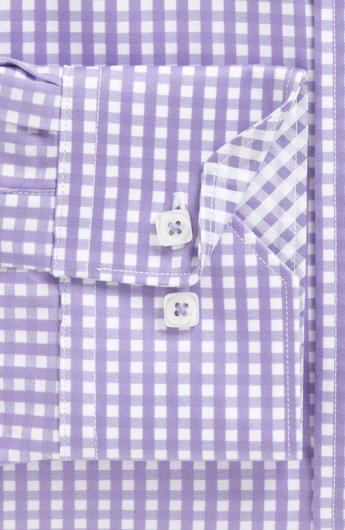 Alternate Image 5  - Bugatchi Gingham Classic Fit Cotton Sport Shirt