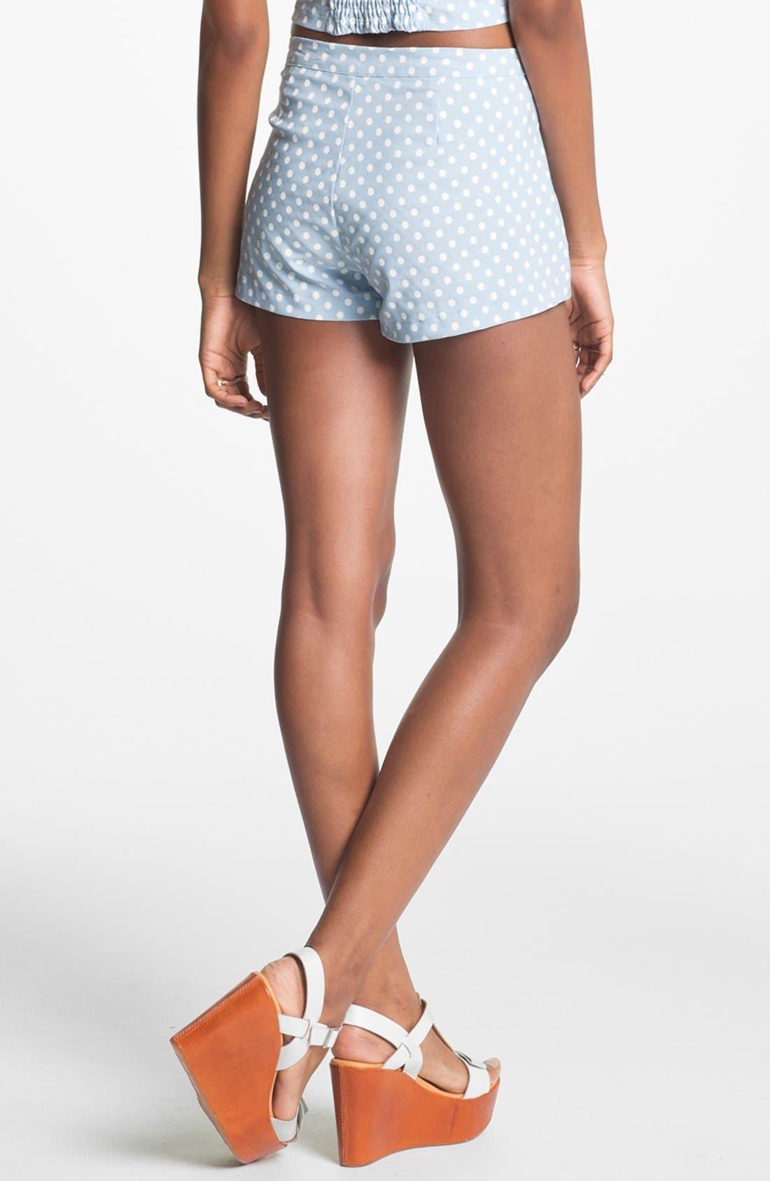 Alternate Image 3  - Living Doll Polka Dot Shorts (Juniors)(Online Only)