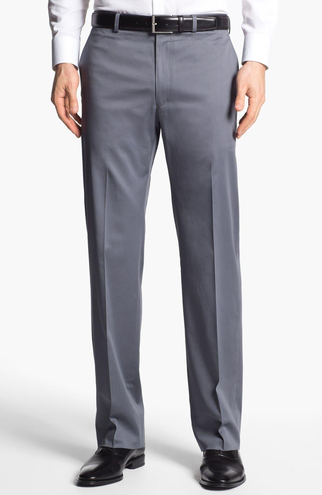 Alternate Image 1 Selected - John Varvatos Star USA 'Thompson' Cotton Blend Trousers