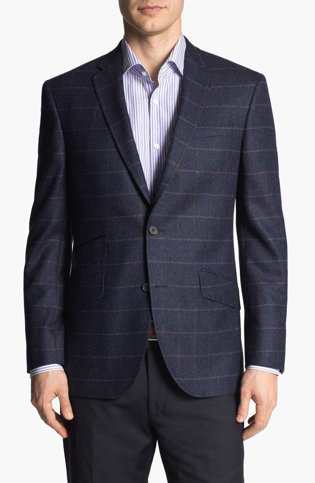 Main Image - Ted Baker London 'Jim' Trim Fit Plaid Sportcoat (Online Only)