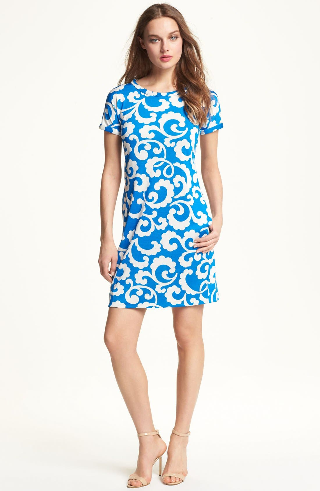 Alternate Image 1 Selected - Diane von Furstenberg 'Beth' Silk Shift Dress