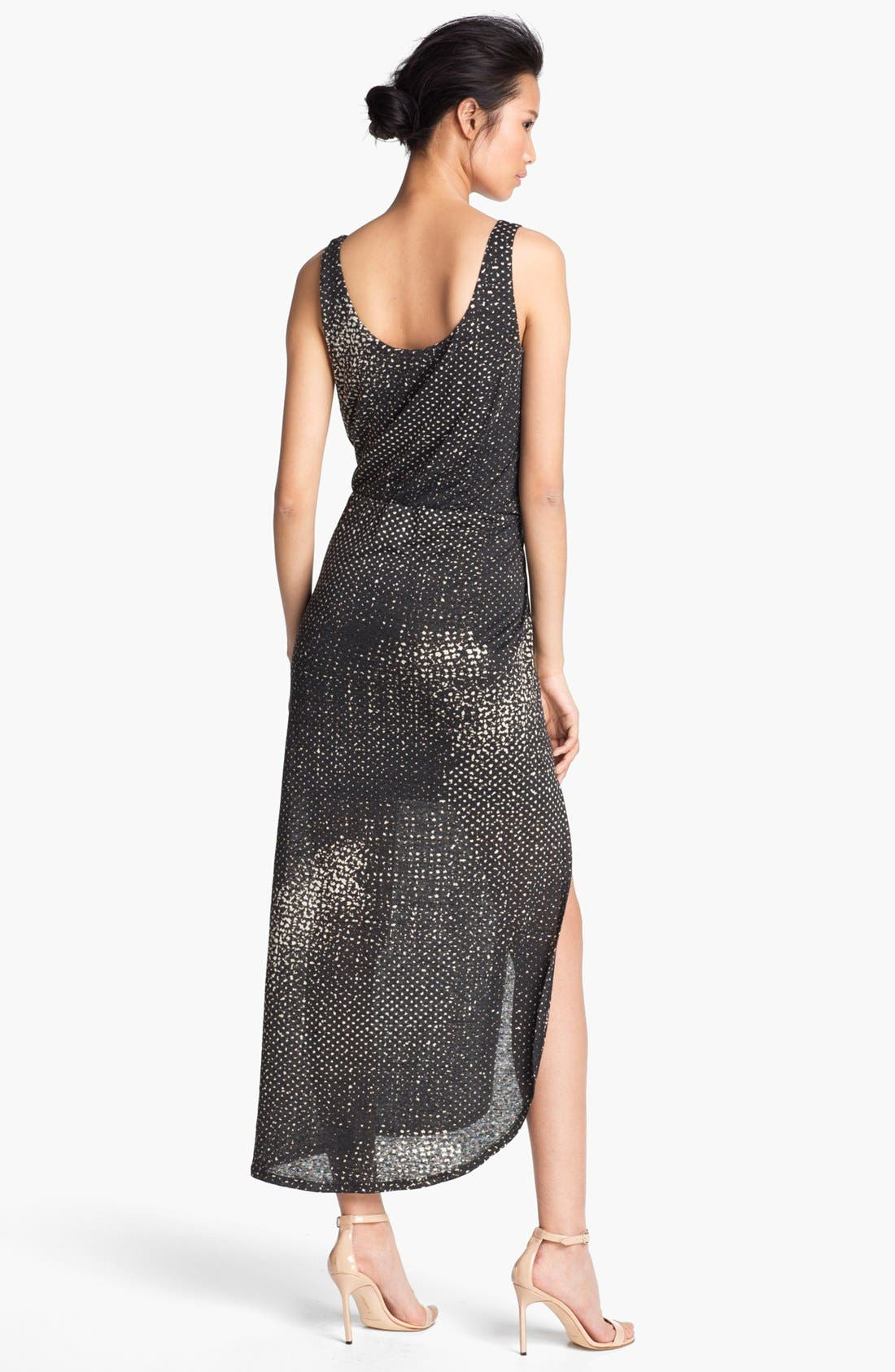 Alternate Image 2  - Halston Heritage Print Linen Tank Dress