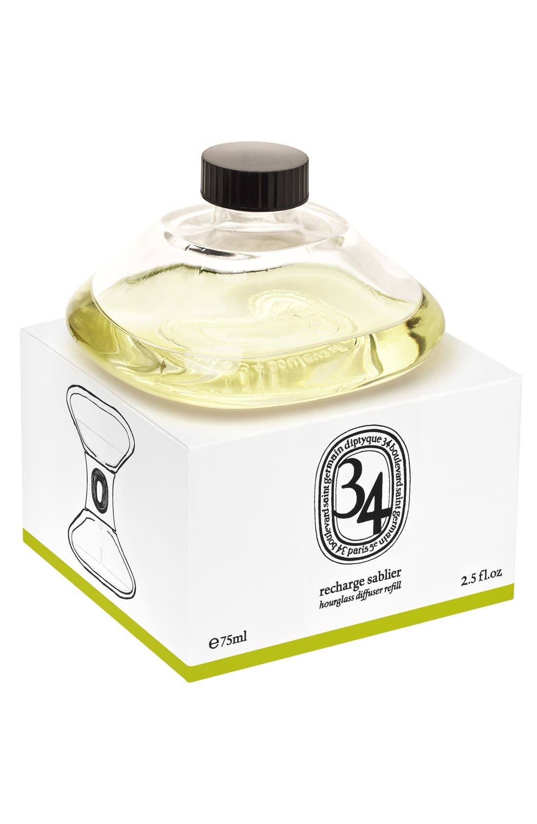 Alternate Image 1 Selected - diptyque '34 Boulevard Saint Germain' Hourglass Room Diffuser Refill