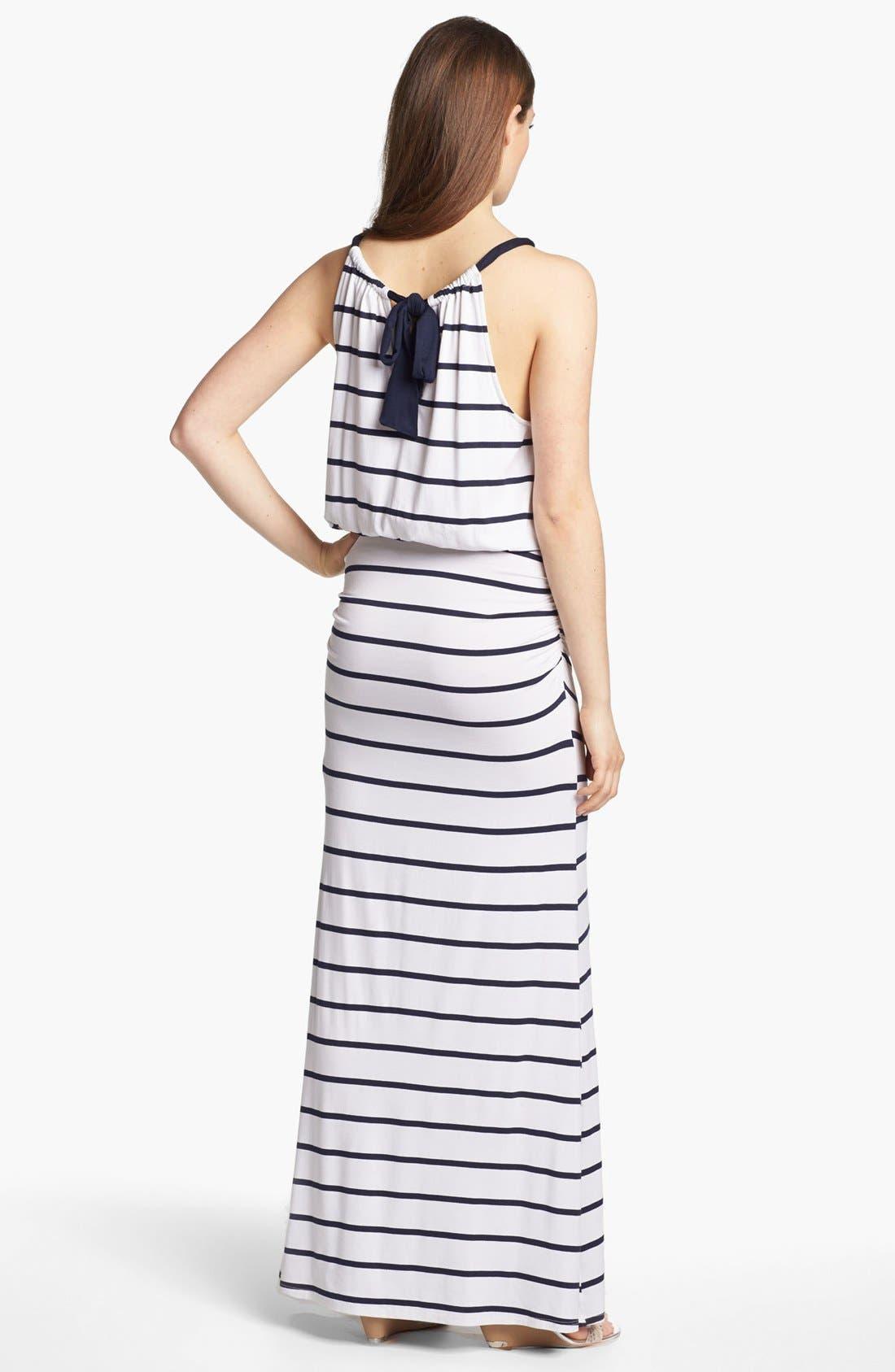 Alternate Image 2  - Everleigh Bow Back Halter Maxi Dress
