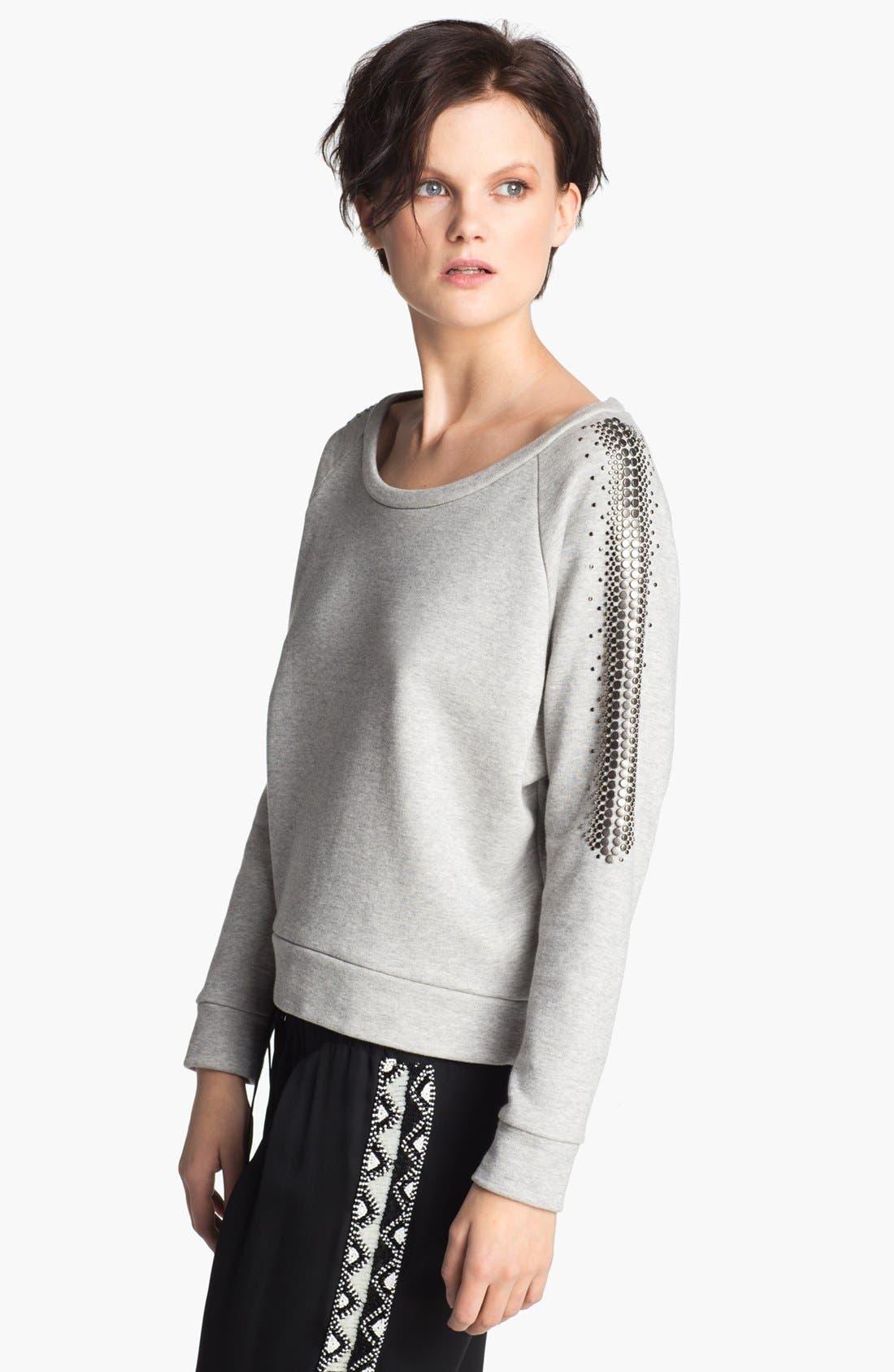 Alternate Image 3  - Haute Hippie Studded French Terry Sweatshirt