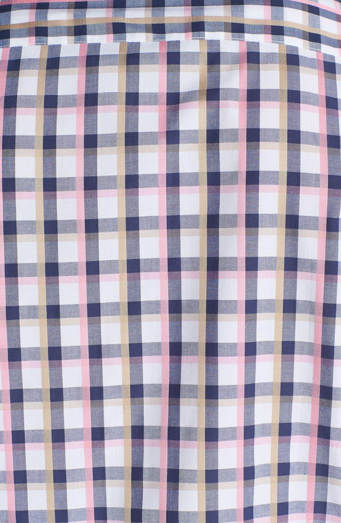 Alternate Image 3  - Bugatchi Short Sleeve Shaped Fit Sport Shirt