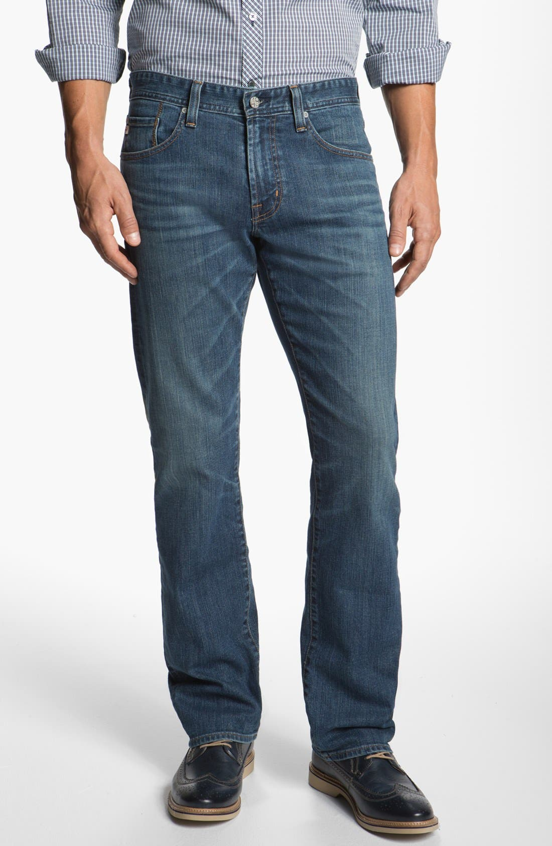 Alternate Image 1 Selected - AG 'Protégé' Straight Leg Jeans (16 Year)