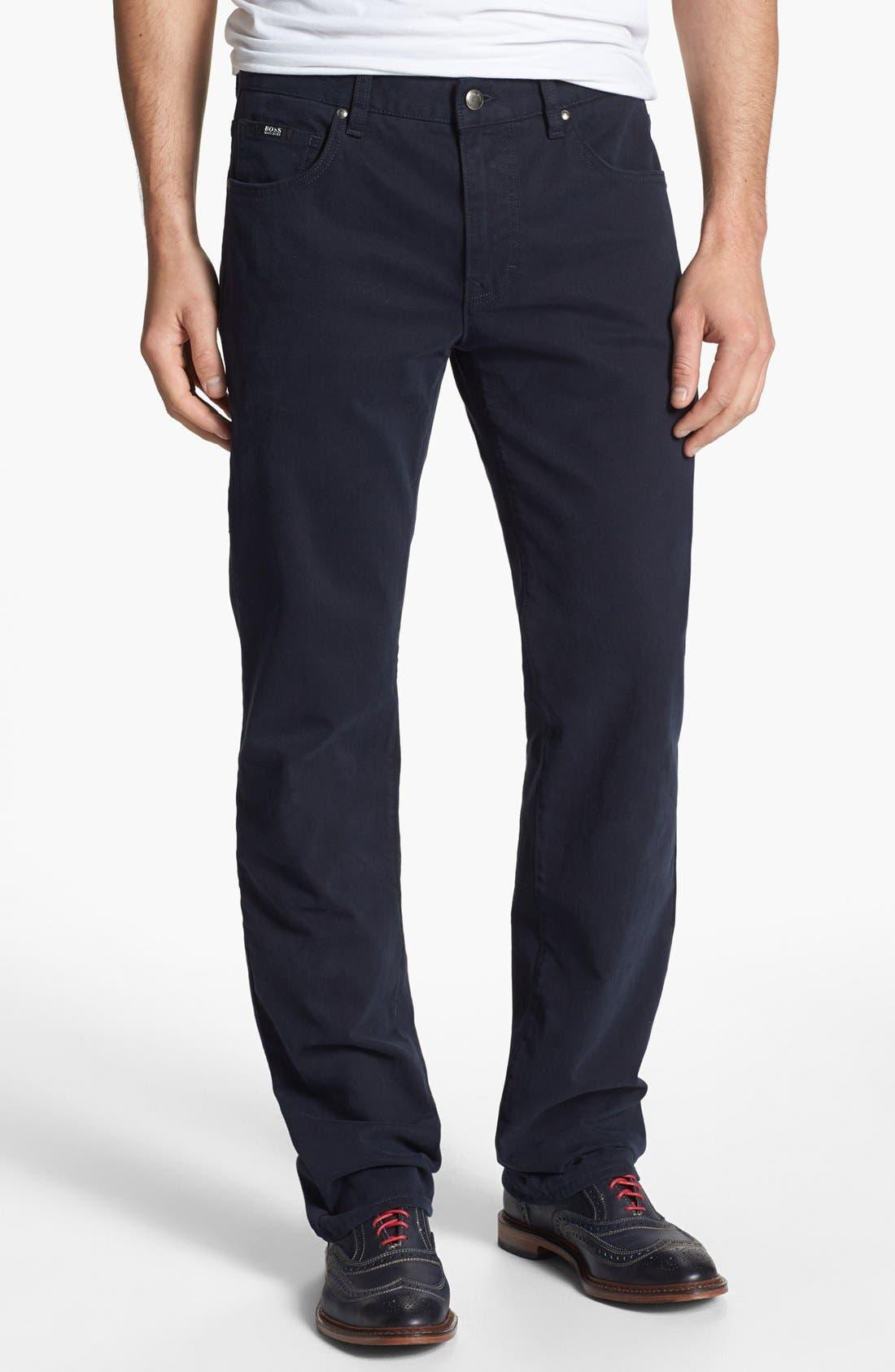 Main Image - BOSS HUGO BOSS 'Kansas' Tonal Stripe Straight Leg Pants
