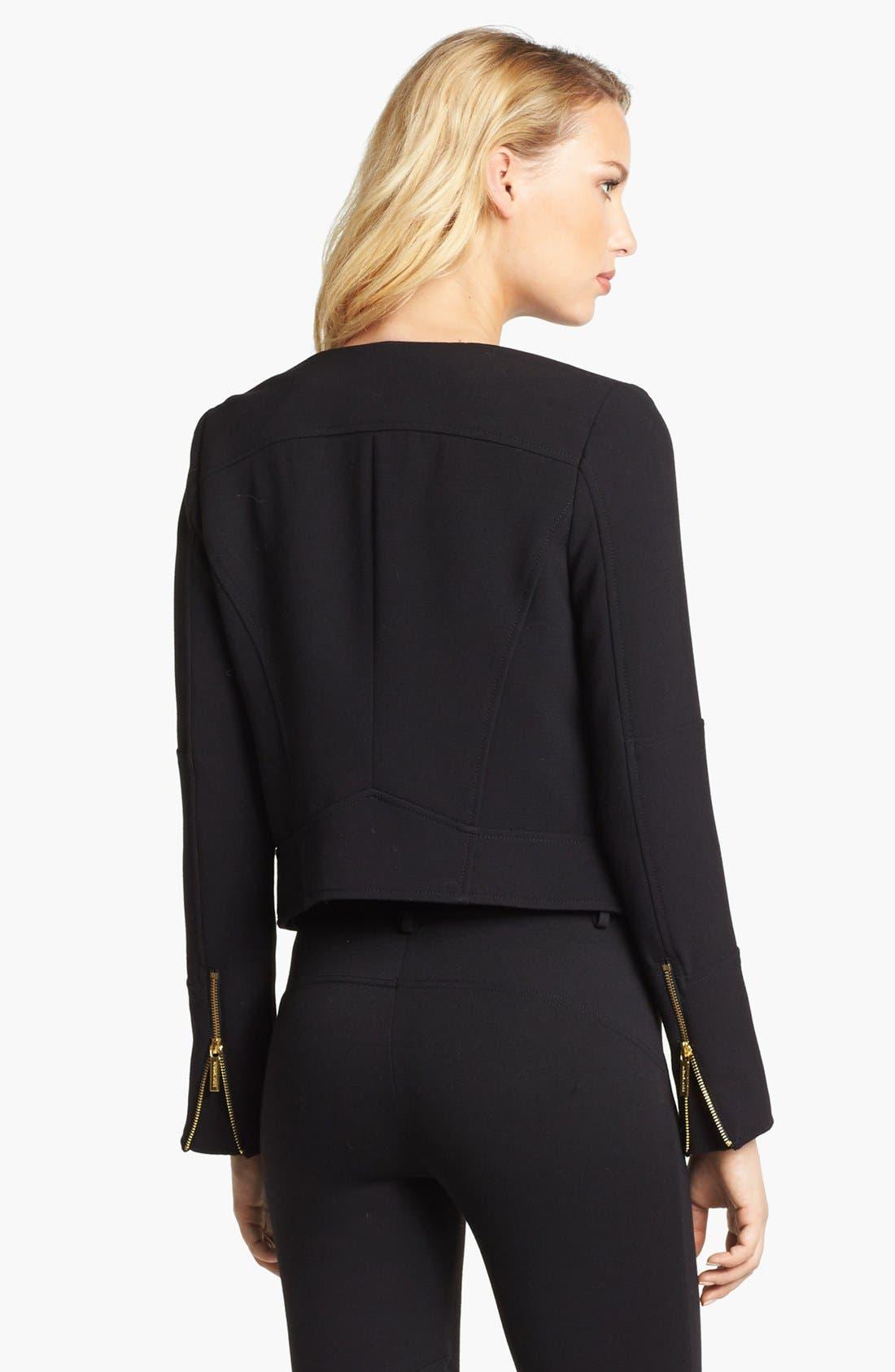 Alternate Image 2  - MICHAEL Michael Kors Knit Moto Jacket