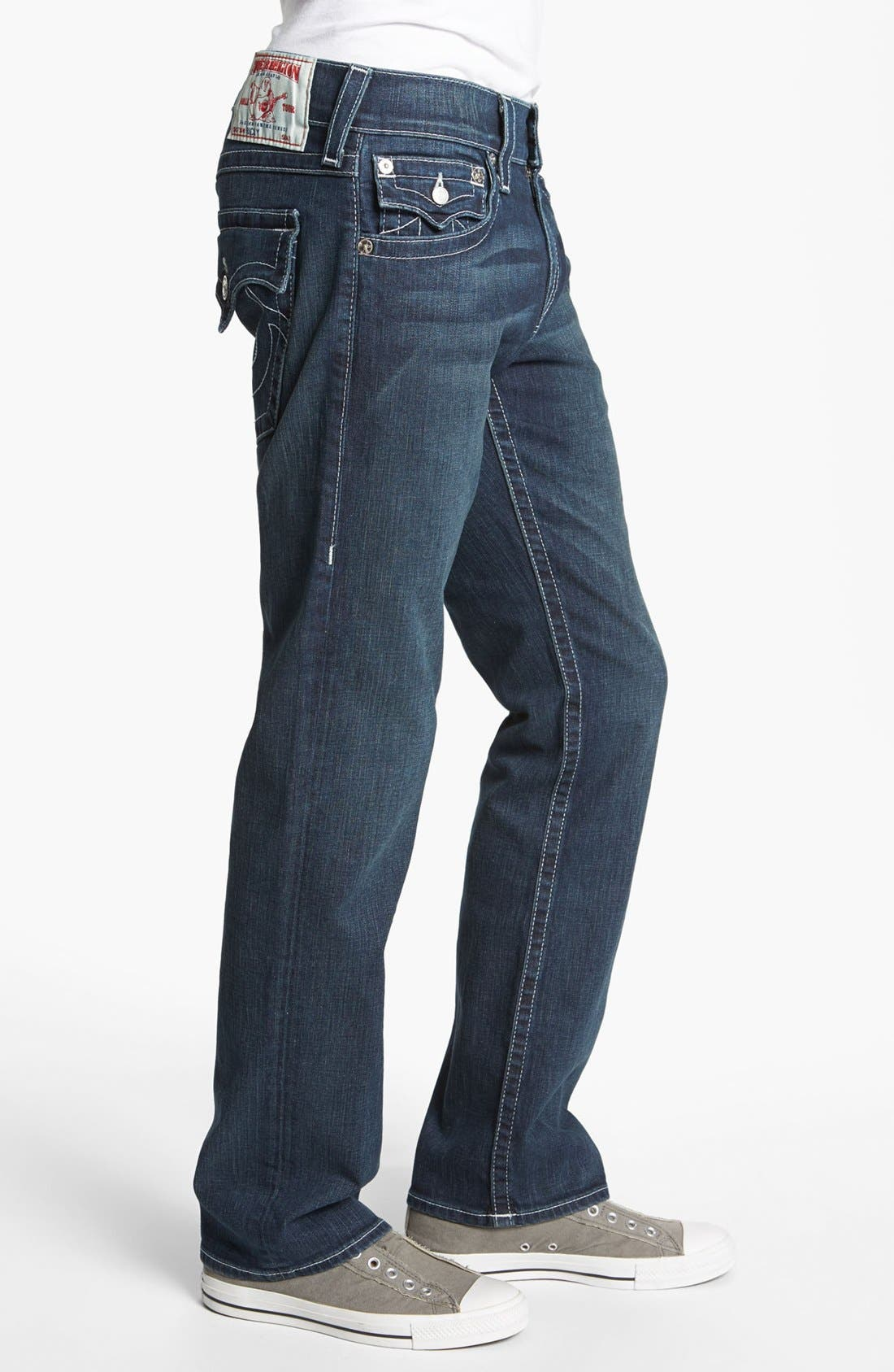 Alternate Image 3  - True Religion Brand Jeans 'Ricky' Stretch Relaxed Fit Jeans (Monte)