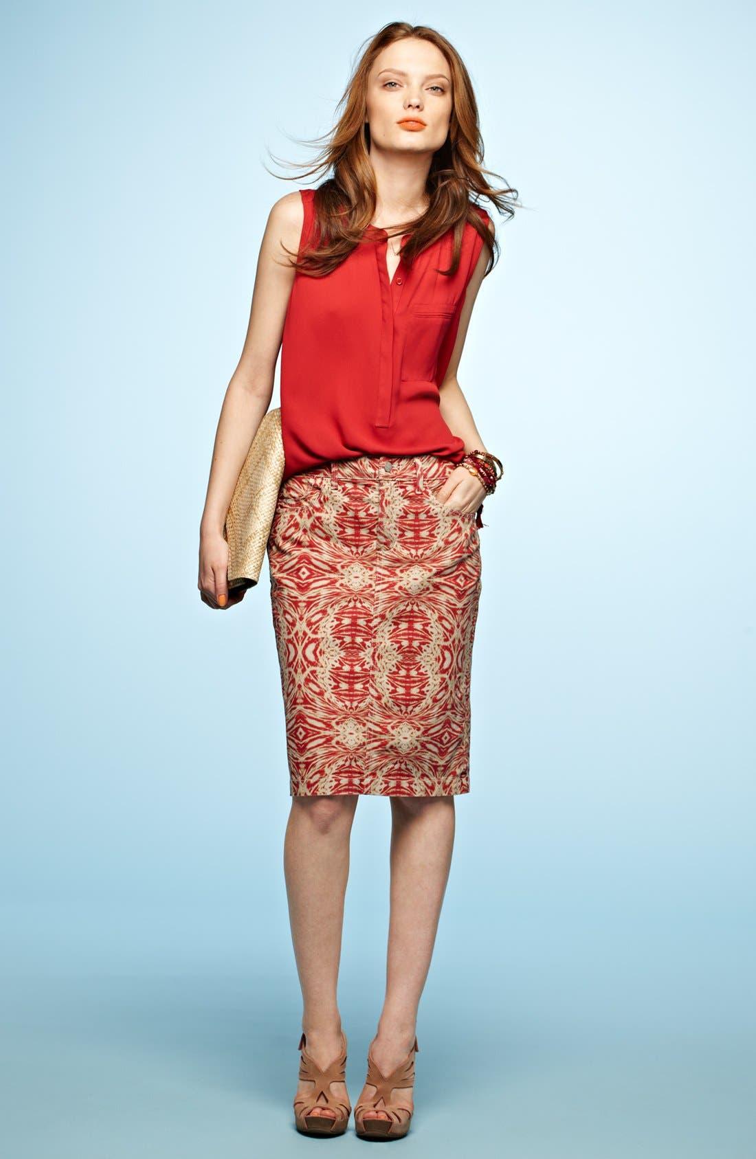 Alternate Image 6  - NYDJ 'Emma' Stretch Twill Skirt
