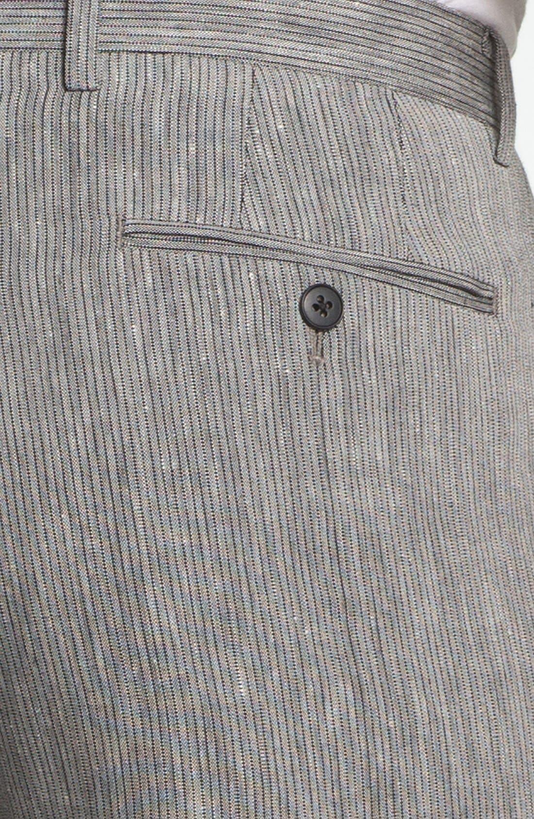 Alternate Image 3  - John Varvatos Star USA Red Label 'Petro' Flat Front Trousers