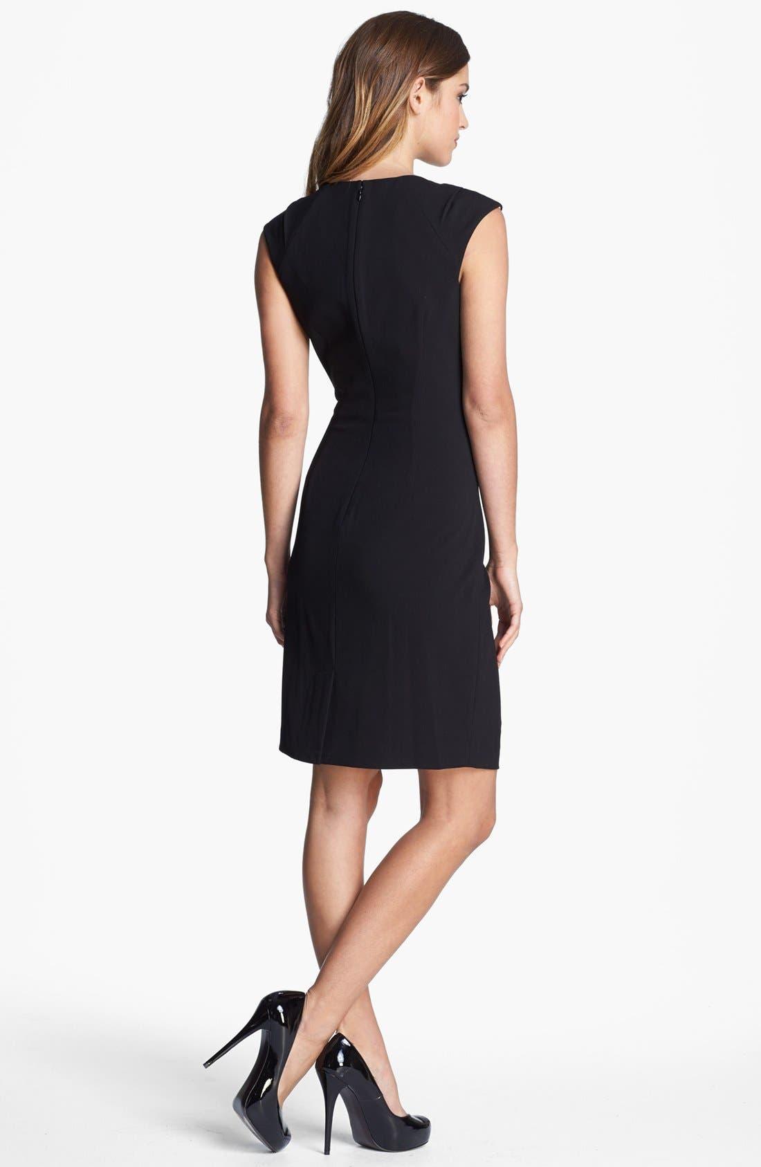 Alternate Image 2  - Calvin Klein Cap Sleeve Sheath Dress