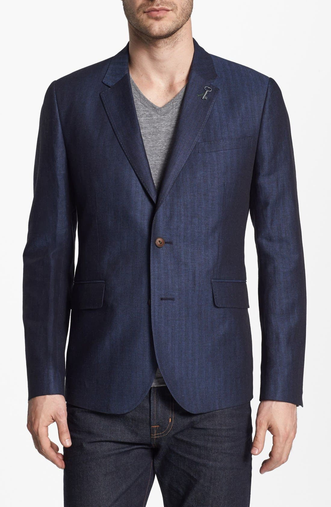 Main Image - Ted Baker London Linen Blend Blazer