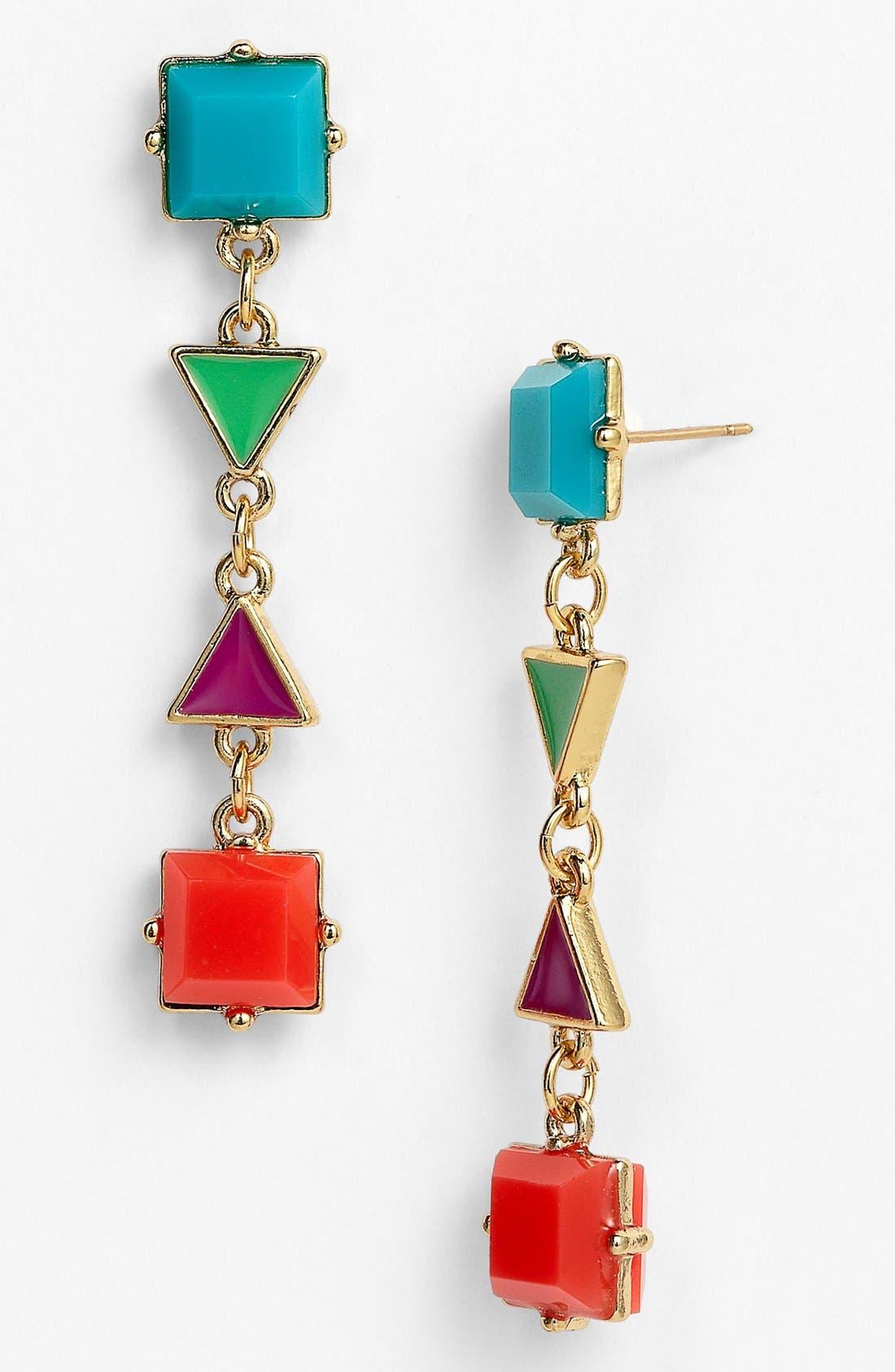 Main Image - kate spade new york 'pueblo tiles' mix shape earrings