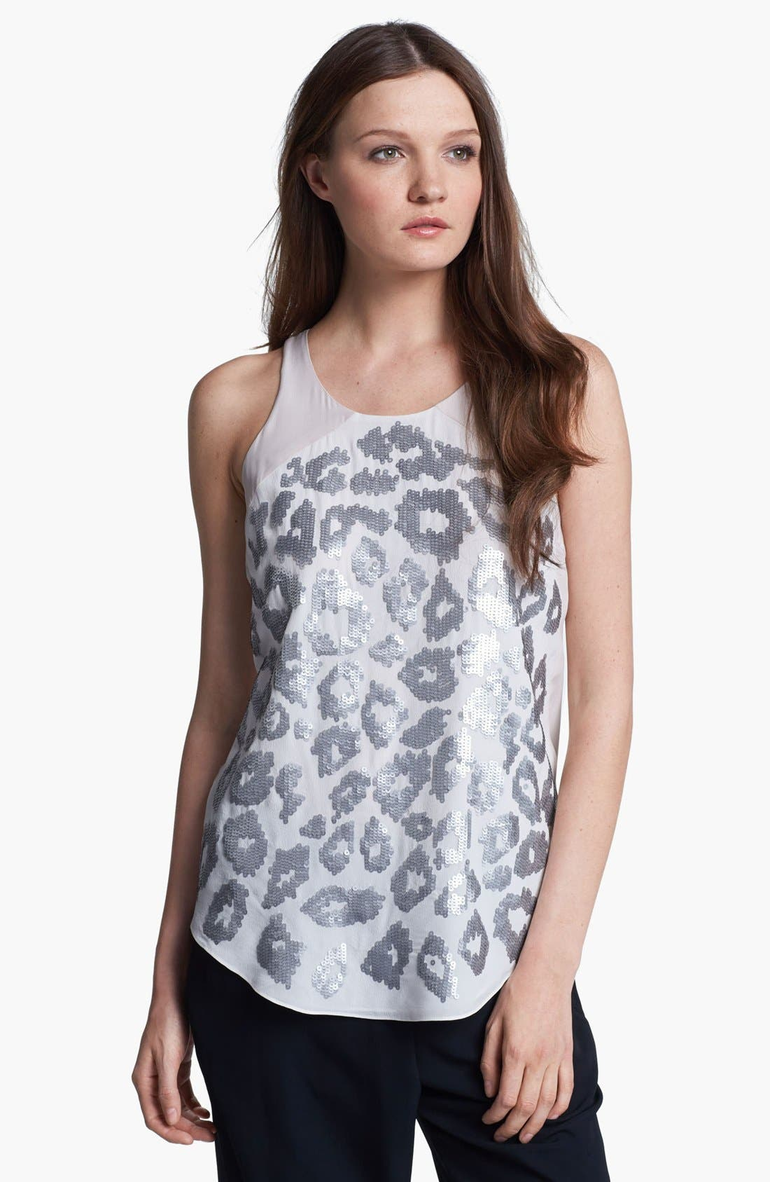 Alternate Image 1 Selected - Rebecca Taylor 'Leo' Sequin Silk Tank