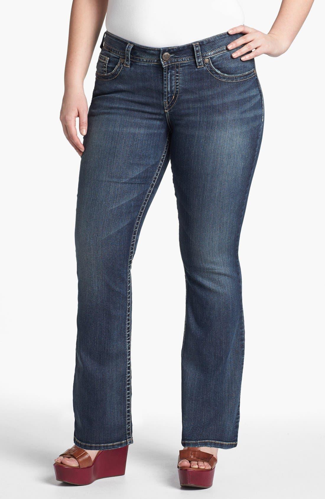 Main Image - Silver Jeans Co. 'Suki' Bootcut Jeans (Juniors Plus)