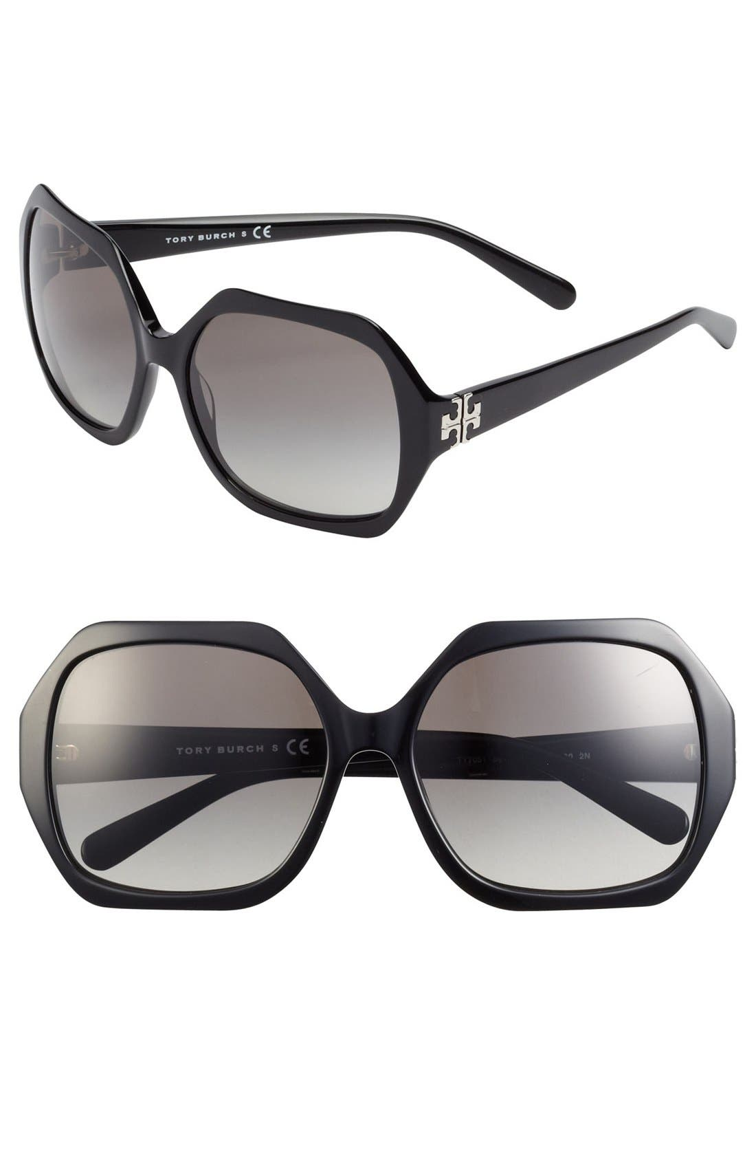 Main Image - Tory Burch 58mm Sunglasses