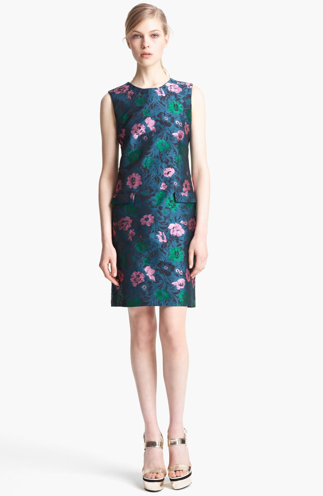 Main Image - Erdem Sleeveless Floral Jacquard Shift Dress