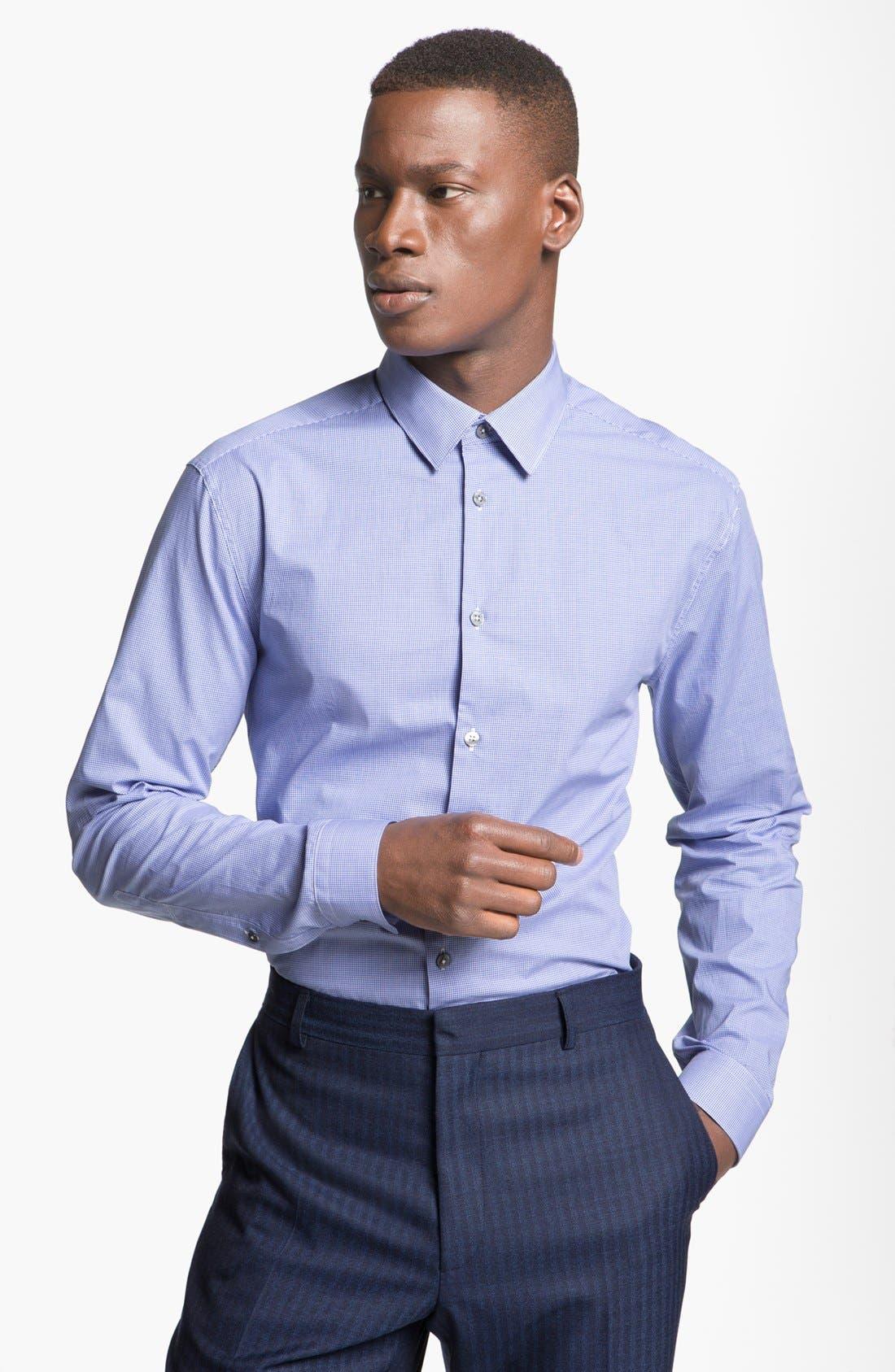 Main Image - Paul Smith London Slim Fit Microcheck Dress Shirt