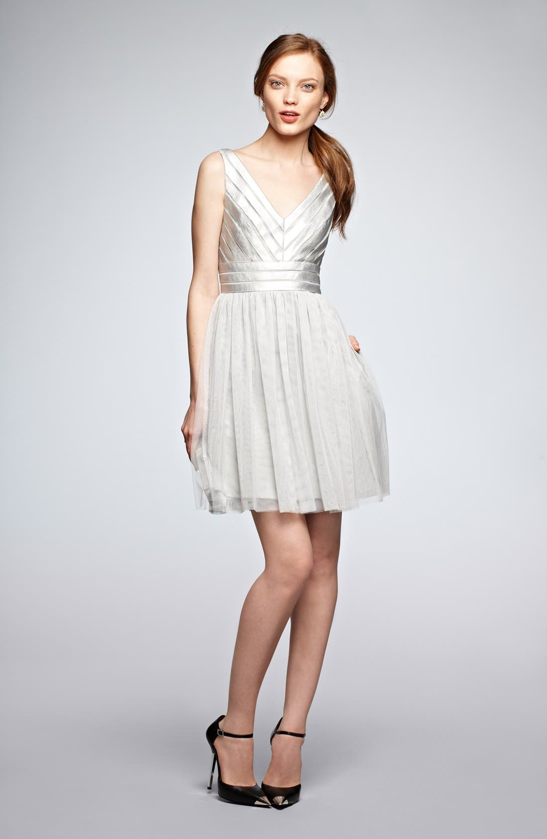 Alternate Image 4  - Aidan Mattox Embellished Tulle Fit & Flare Dress (Online Only)