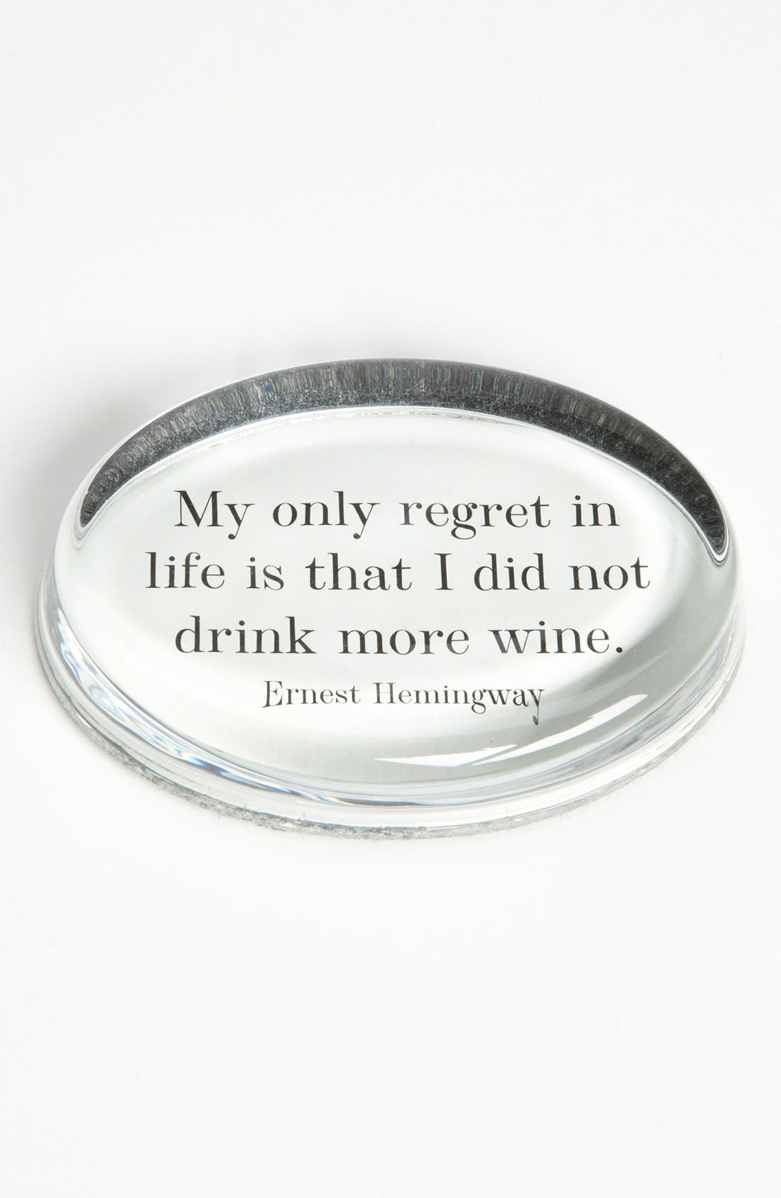 'My Only Regret' French Crystal Paperweight,                         Main,                         color, Ivory
