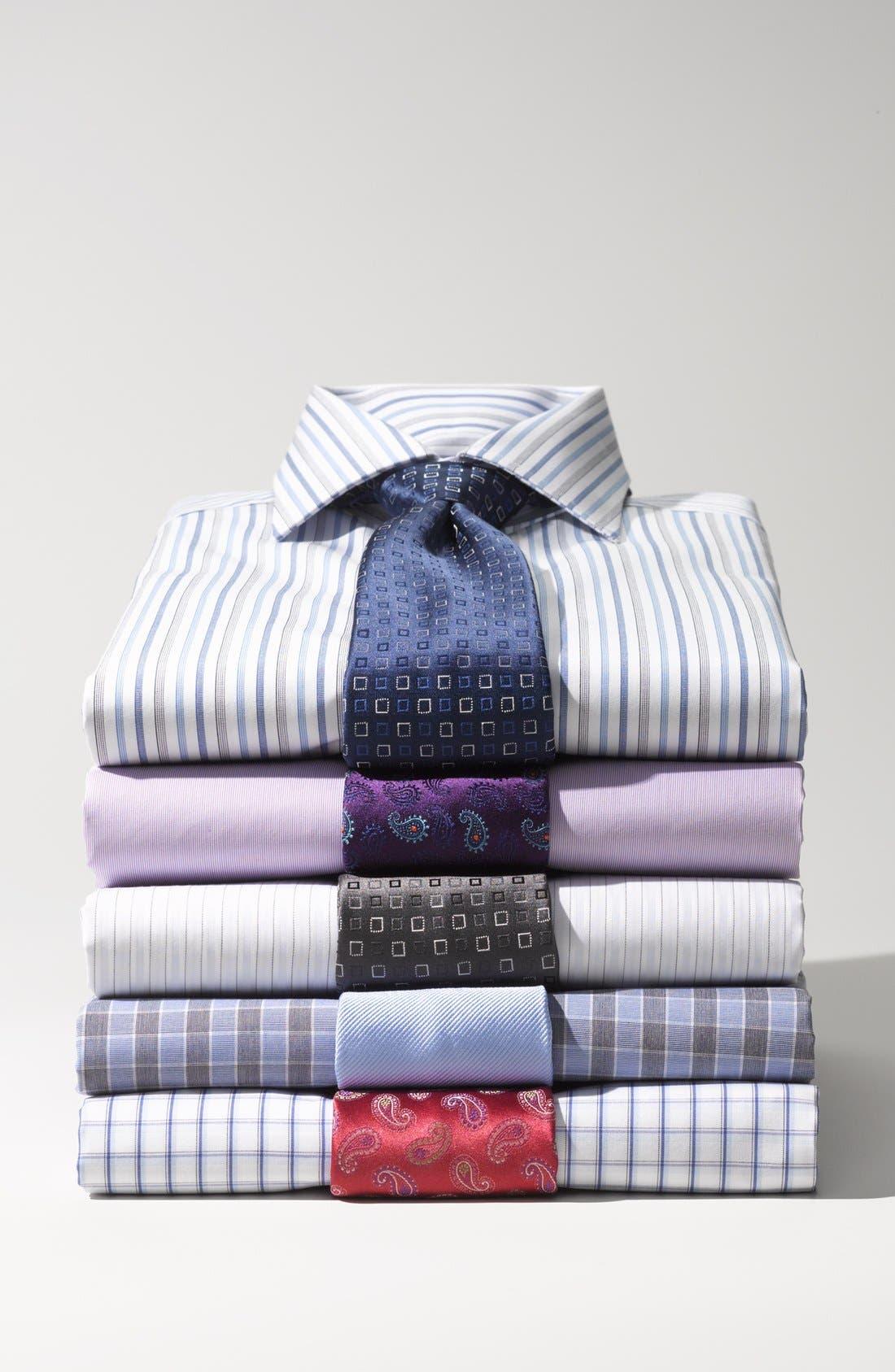Alternate Image 3  - Thomas Pink Woven Silk Tie