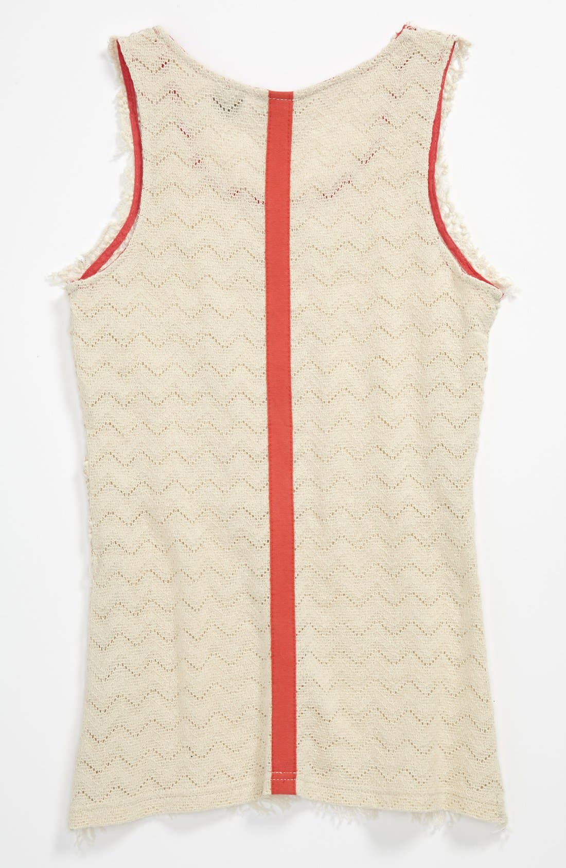 Alternate Image 2  - Miss Me Crochet Tank (Big Girls)