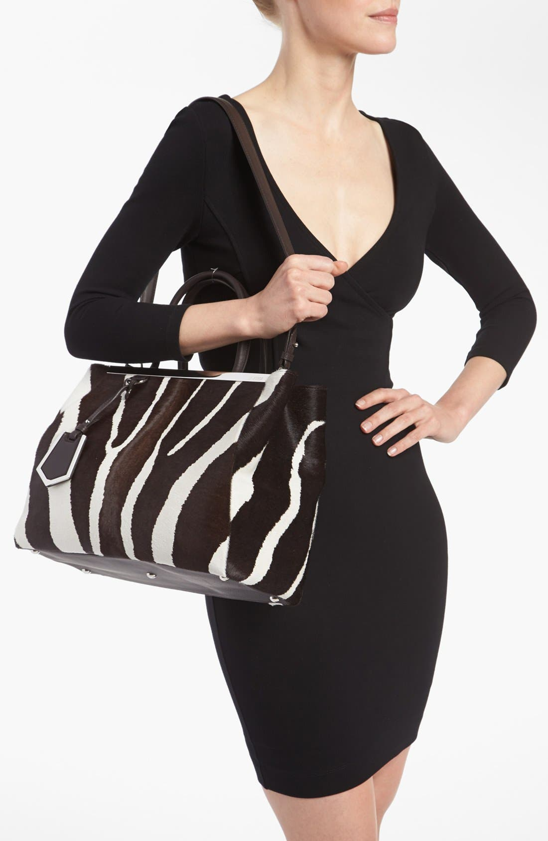 Alternate Image 2  - Fendi '2Jours - Medium' Calf Hair Shopper