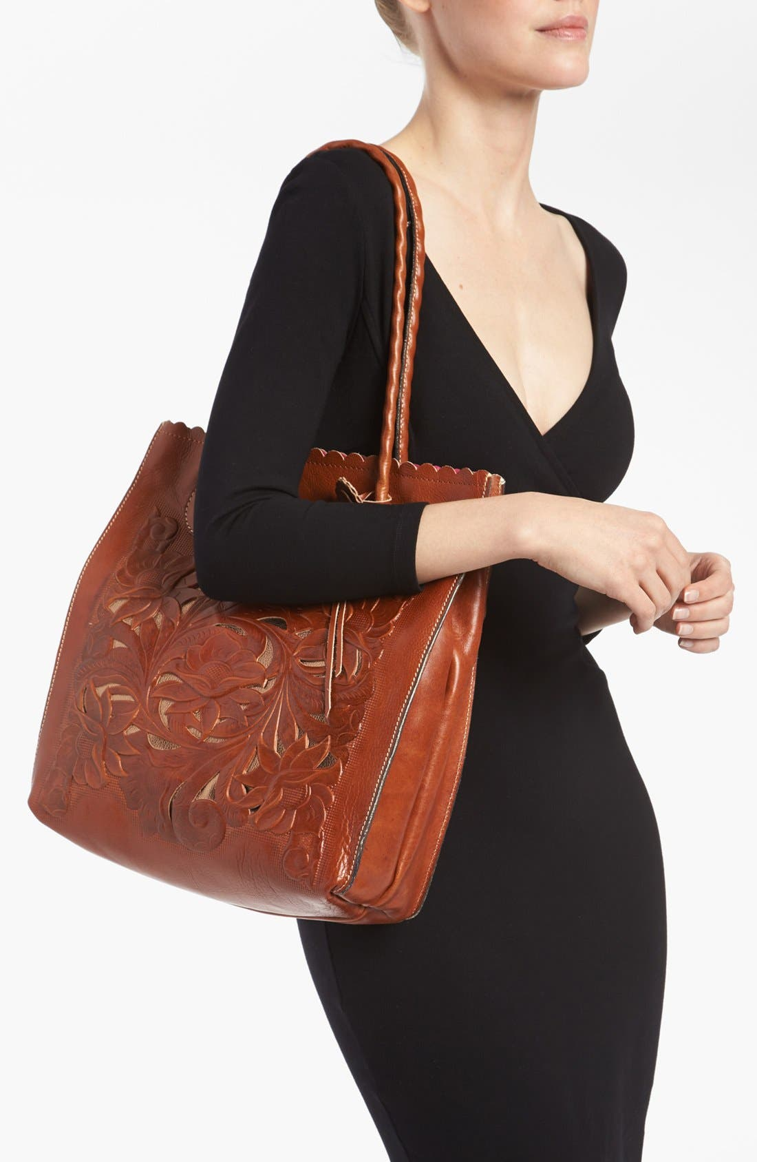 Alternate Image 2  - Patricia Nash 'Cavo' Tooled Leather Tote