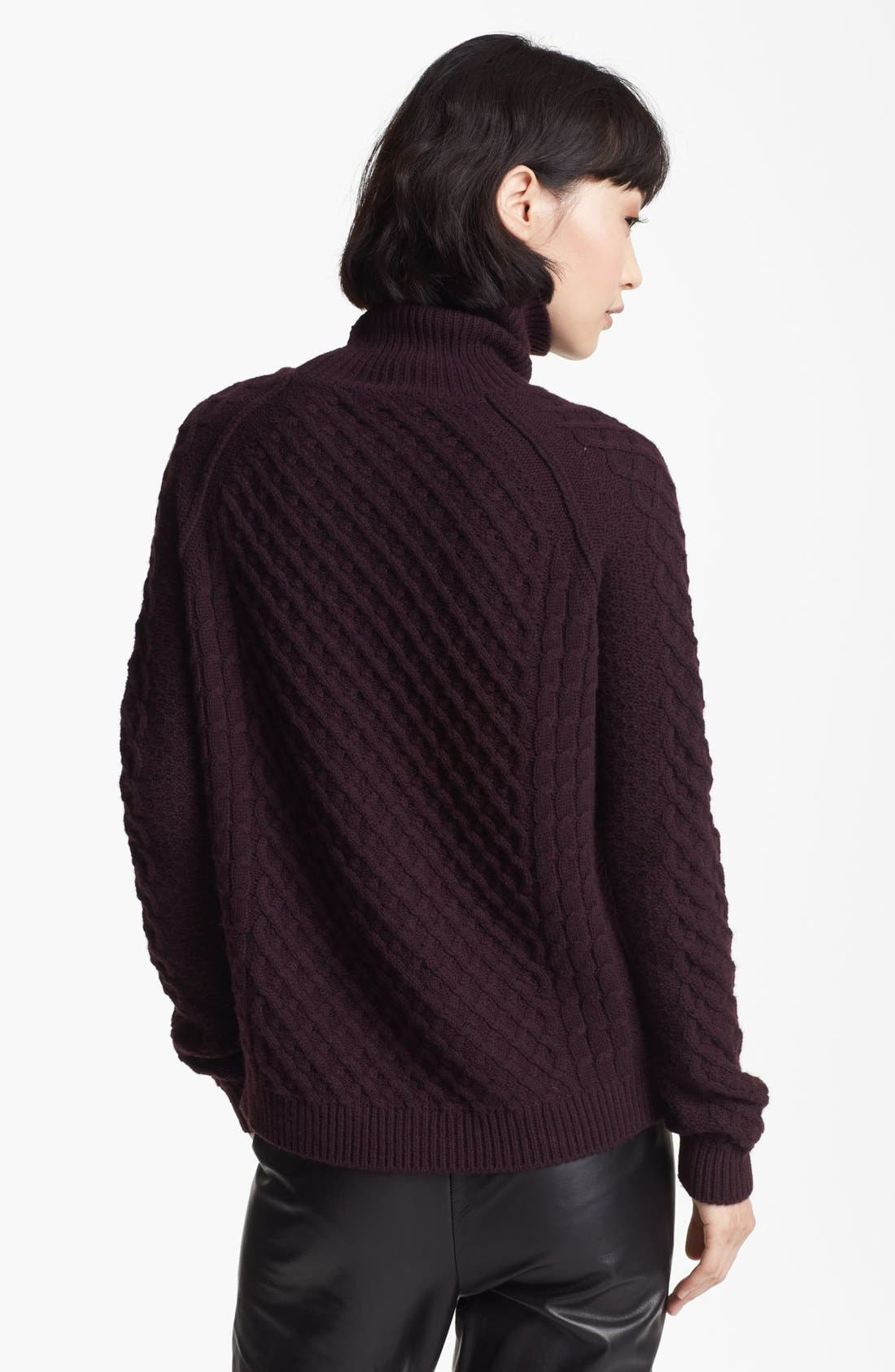 Alternate Image 2  - Vince Cable Turtleneck Sweater