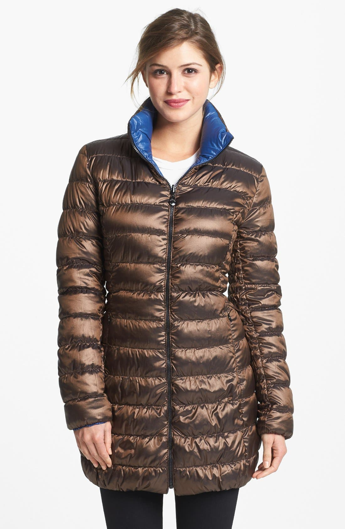 Main Image - Laundry by Shelli Segal Reversible Packable Down Coat (Online Only)