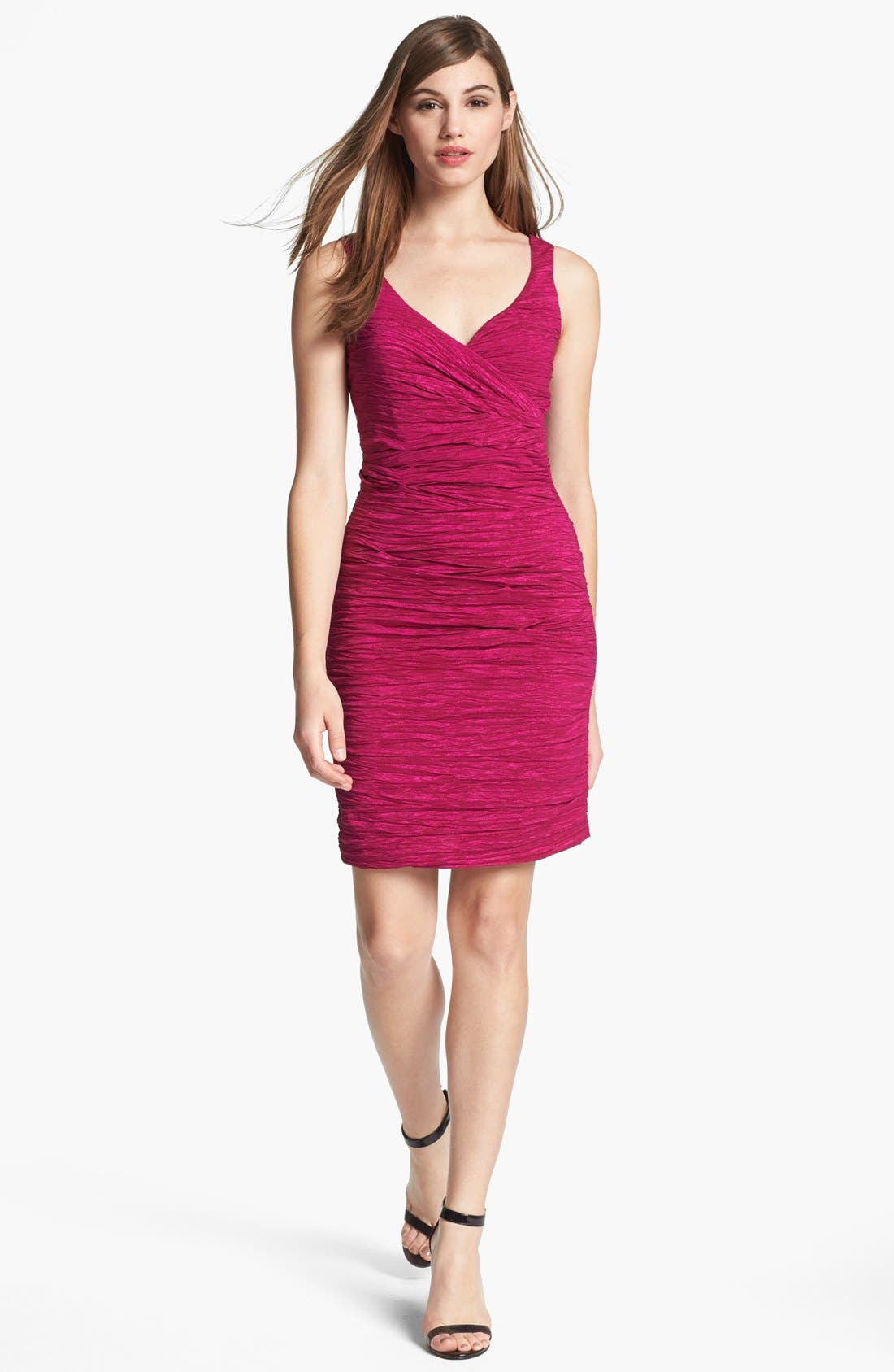 Alternate Image 1 Selected - Calvin Klein Taffeta Sheath Dress