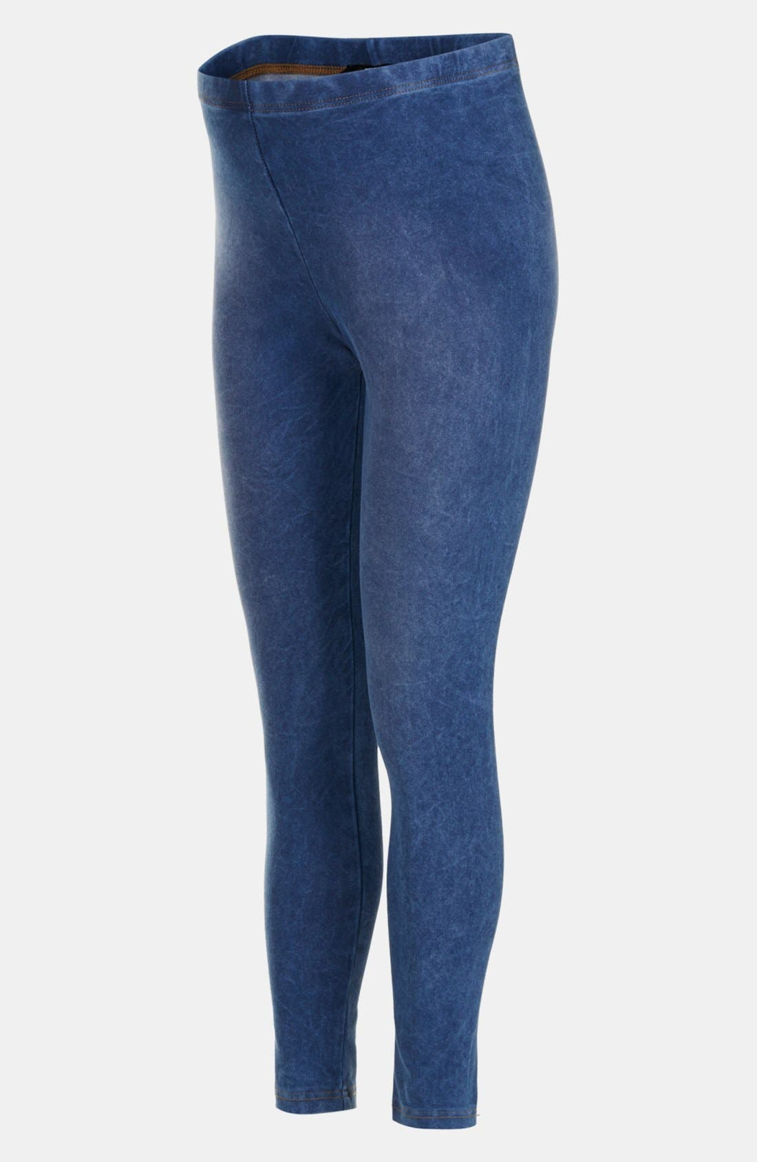 Alternate Image 3  - Topshop Acid Wash Maternity Leggings