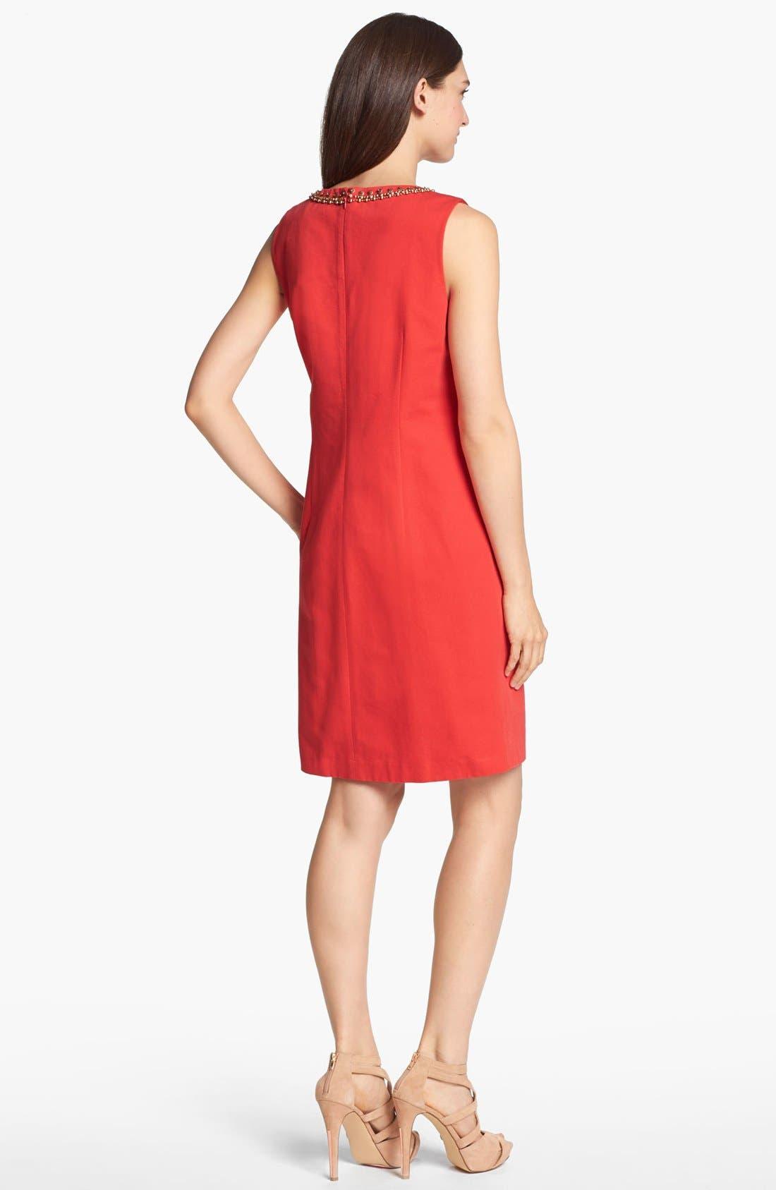 Alternate Image 2  - Ellen Tracy Embellished Sleeveless Sheath Dress