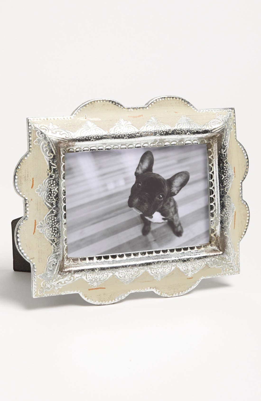 Alternate Image 1 Selected - Distressed Metallic Picture Frame (4x6)