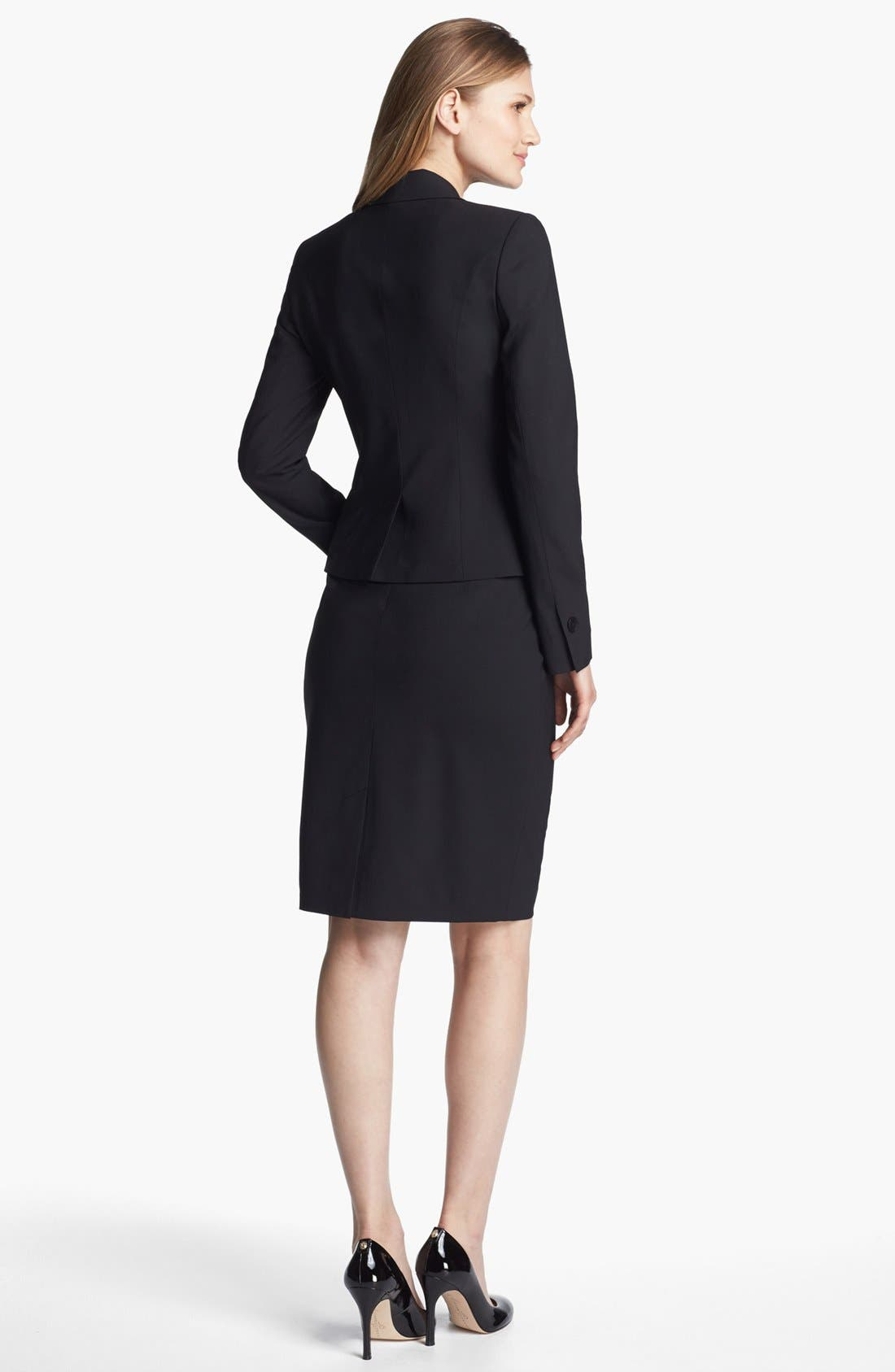 Alternate Image 5  - Classiques Entier® Stretch Wool Skirt