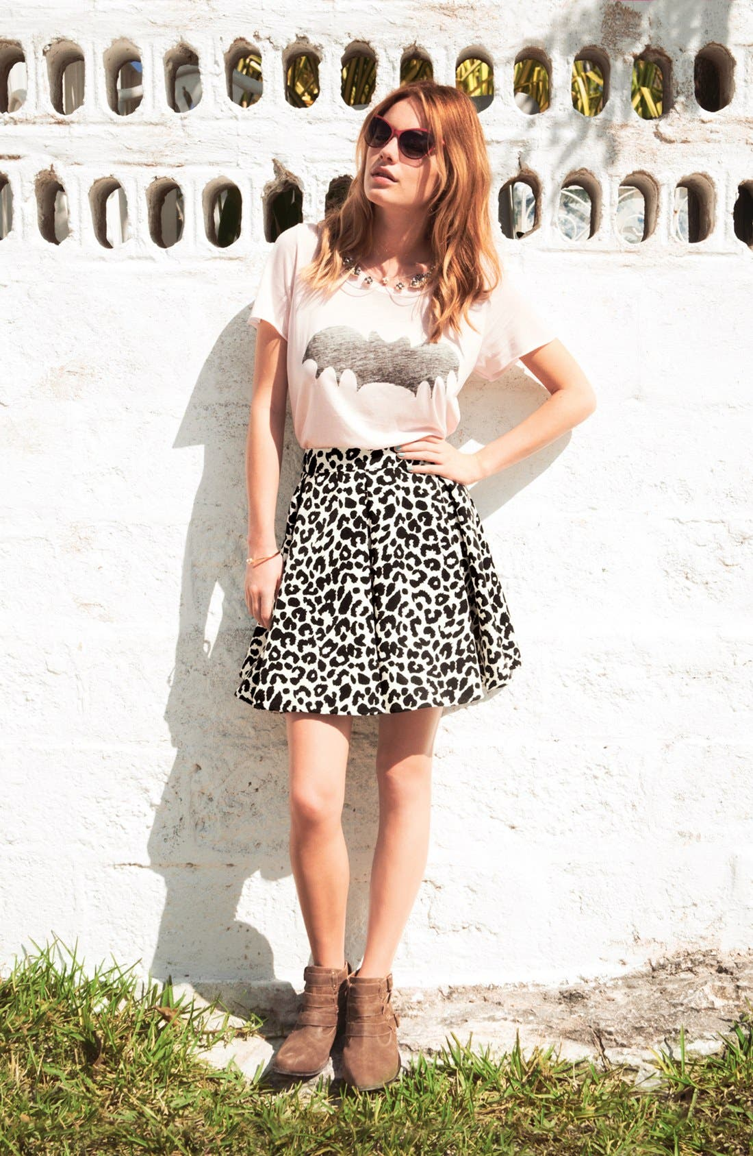 Alternate Image 4  - Collective Concepts Pleated Skater Skirt