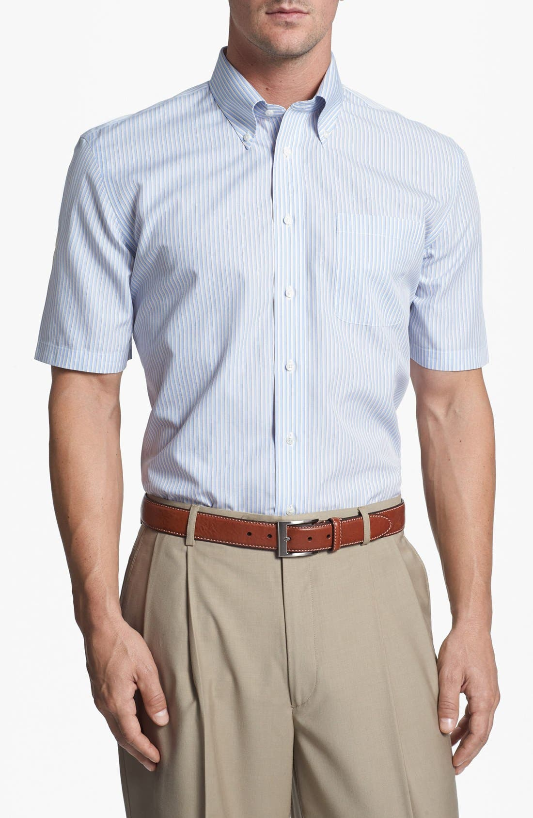 Alternate Image 3  - Nordstrom Smartcare™ Wrinkle Free Traditional Fit Short Sleeve Dress Shirt (Online Only)