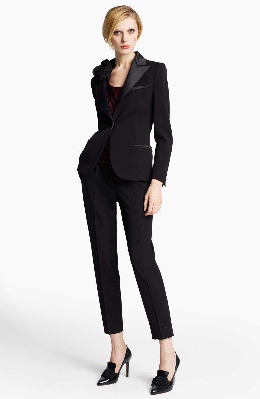Alternate Image 1 Selected - Lanvin Satin Lapel Tuxedo Jacket