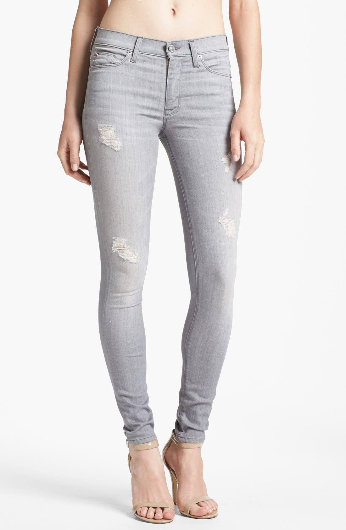 Alternate Image 1 Selected - Hudson Jeans 'Nico' Skinny Stretch Jeans (Fiji Grey)