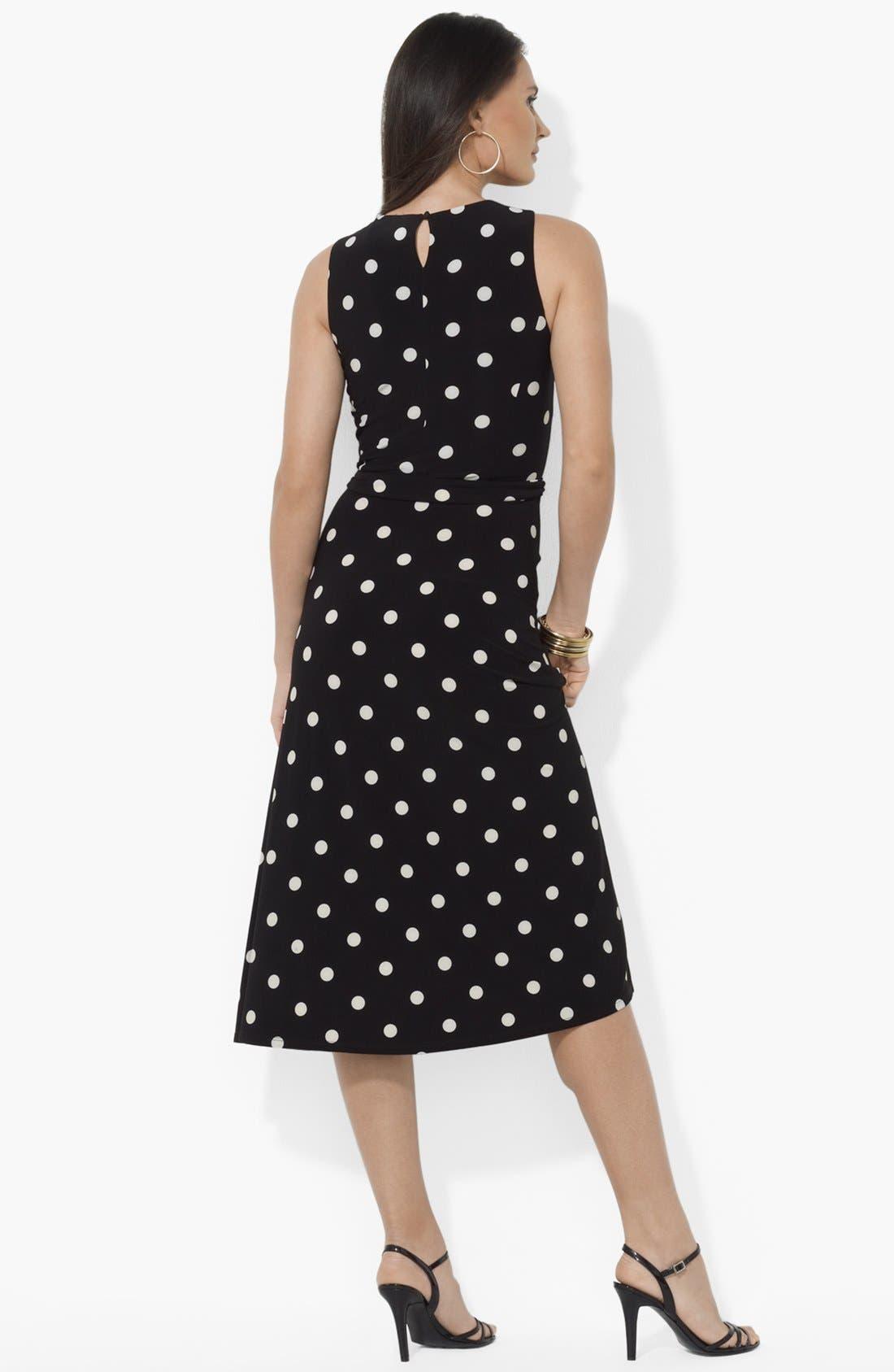 Alternate Image 2  - Lauren Ralph Lauren Polka Dot Matte Jersey Dress
